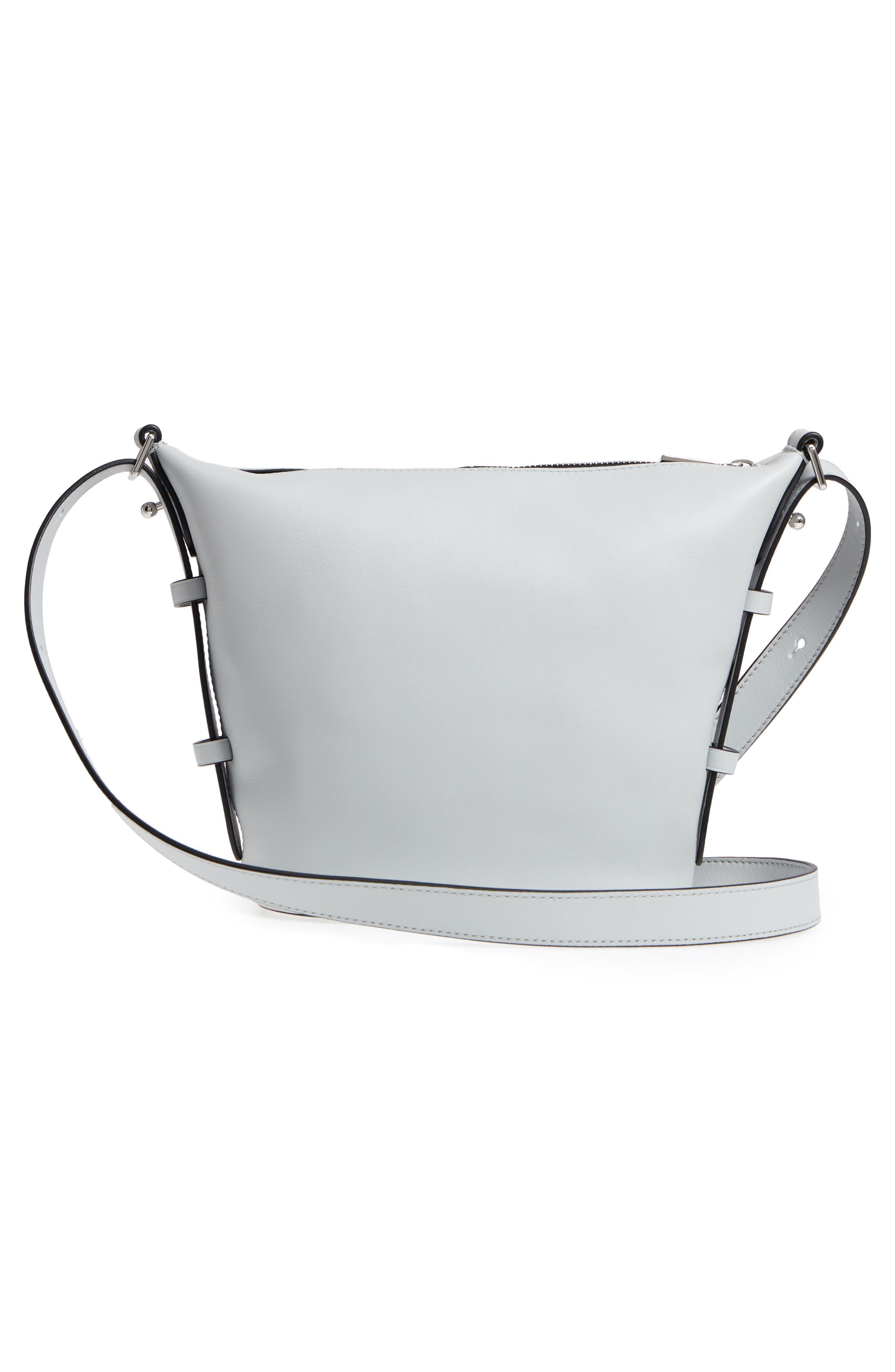 The Mini Sling Convertible Leather Hobo,                             Alternate thumbnail 3, color,                             Light Grey