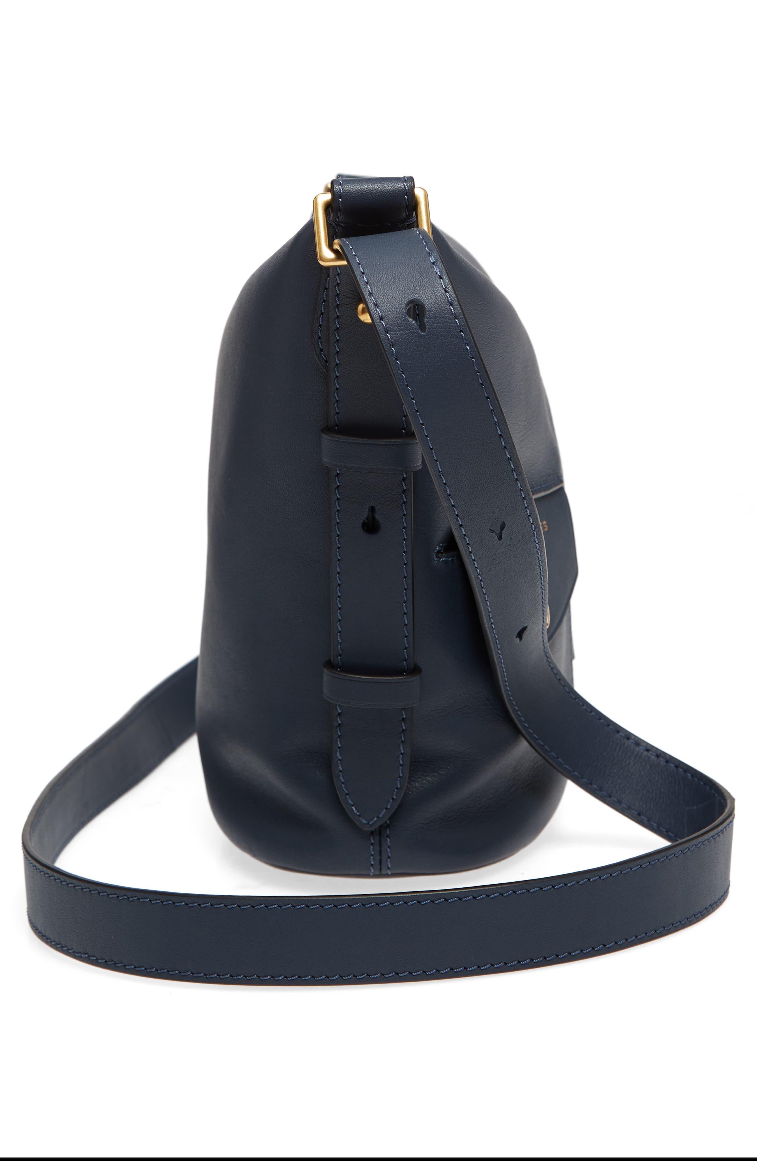 The Mini Sling Convertible Leather Hobo,                             Alternate thumbnail 5, color,                             Blue Sea