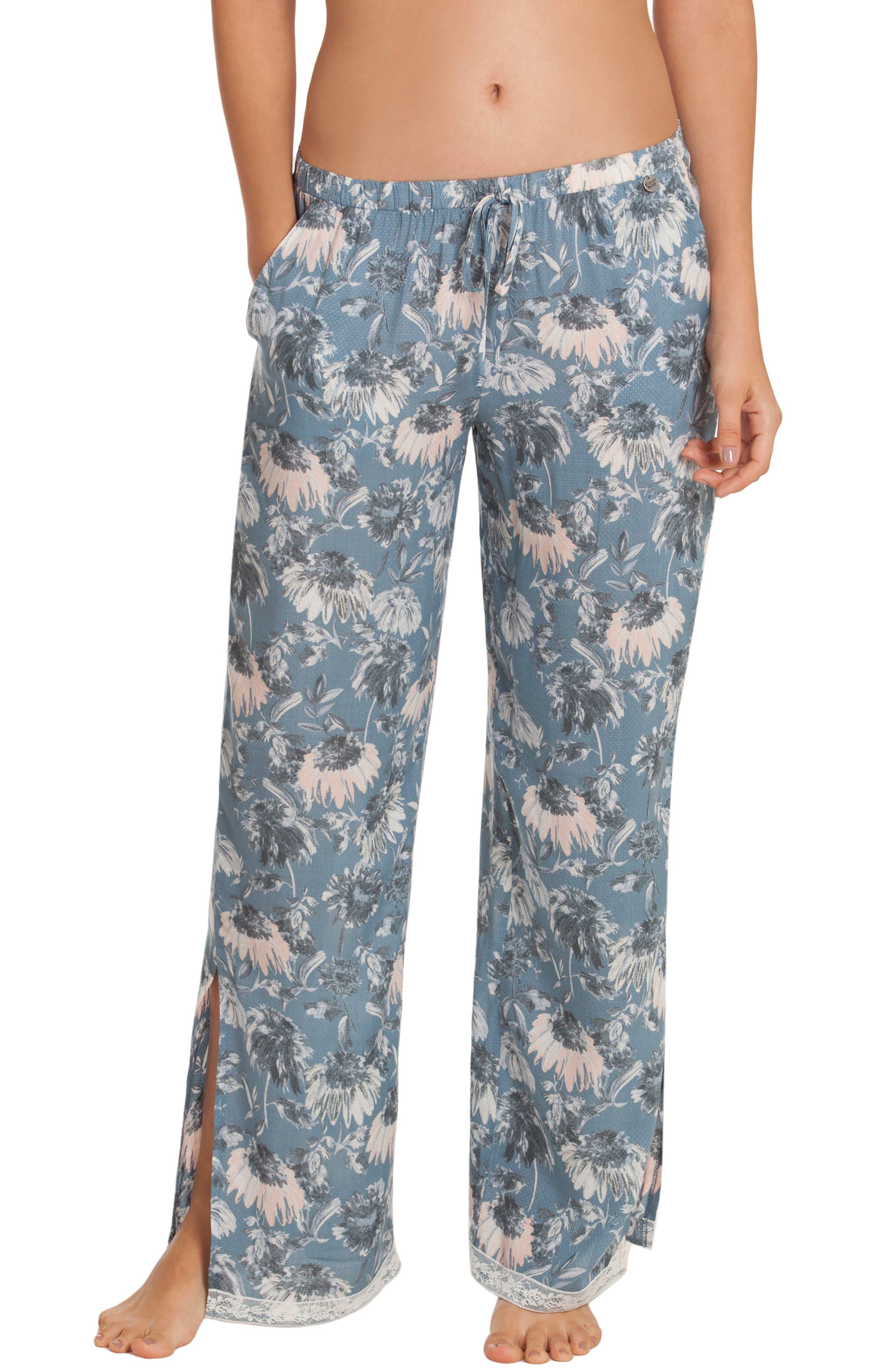 Pajama Pants,                         Main,                         color, Blue Floral