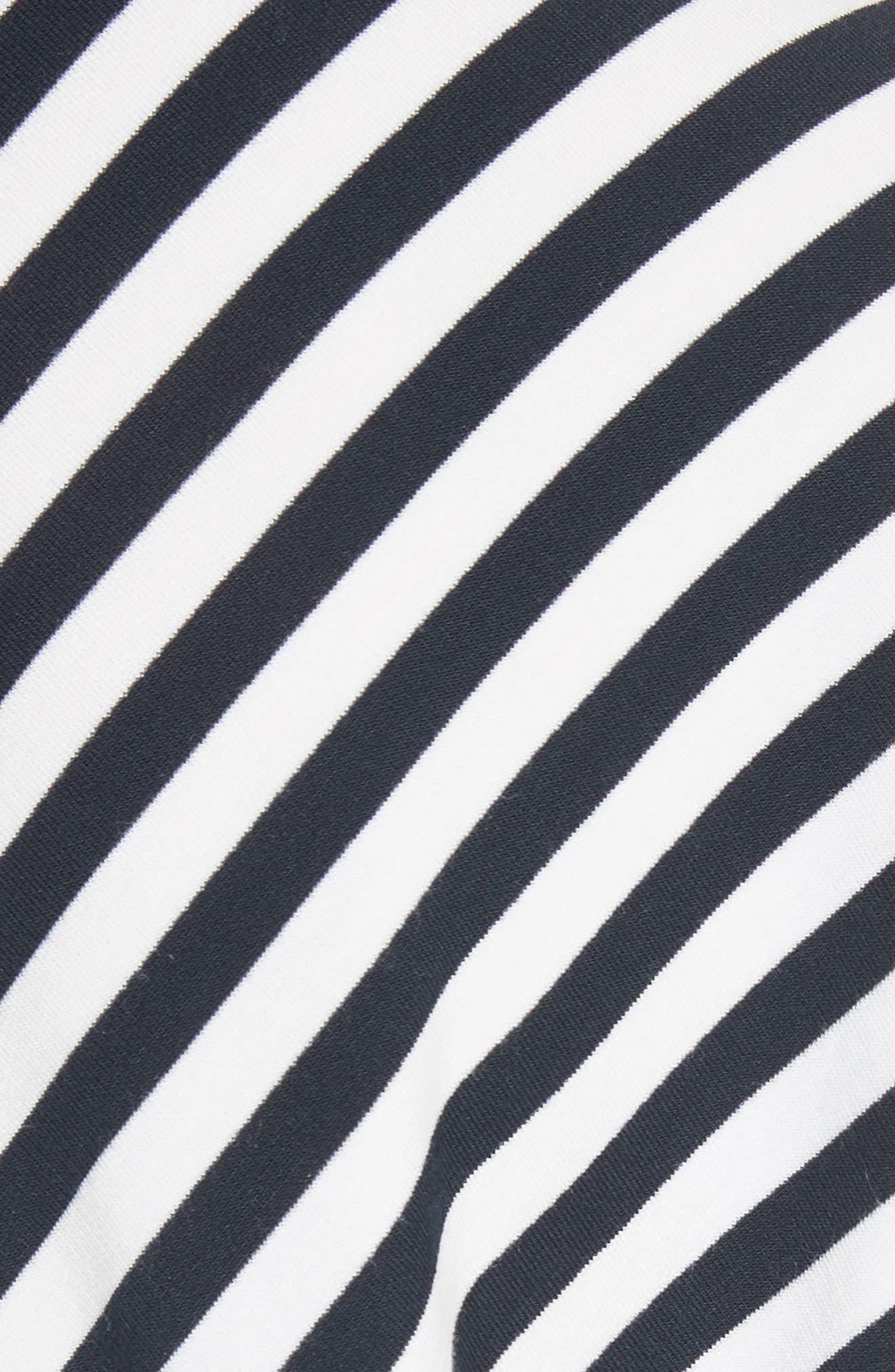 Kat Split Back Tee,                             Alternate thumbnail 4, color,                             White/ Navy