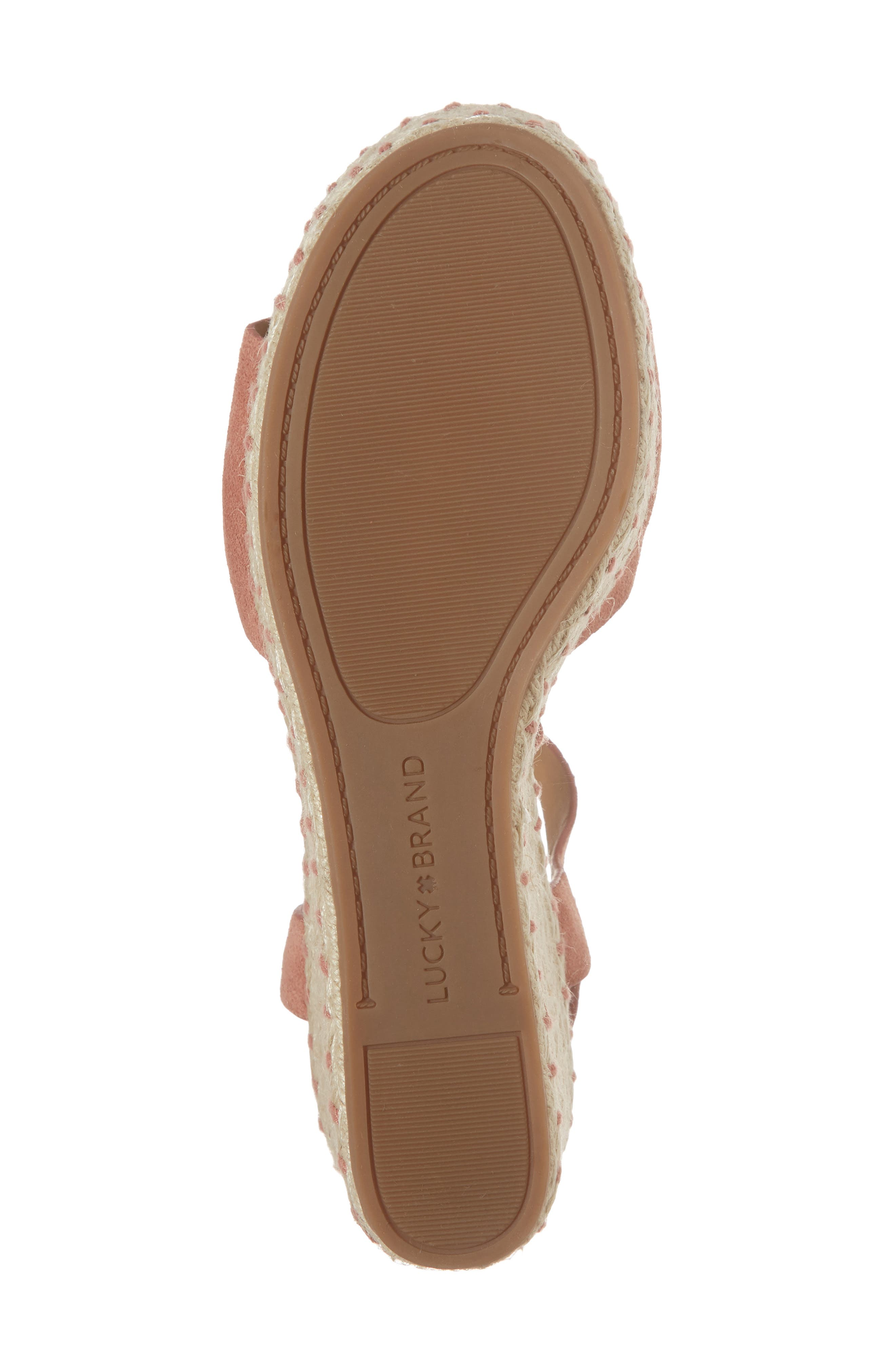 Naveah III Espadrille Wedge Sandal,                             Alternate thumbnail 6, color,                             Canyon Rose Suede
