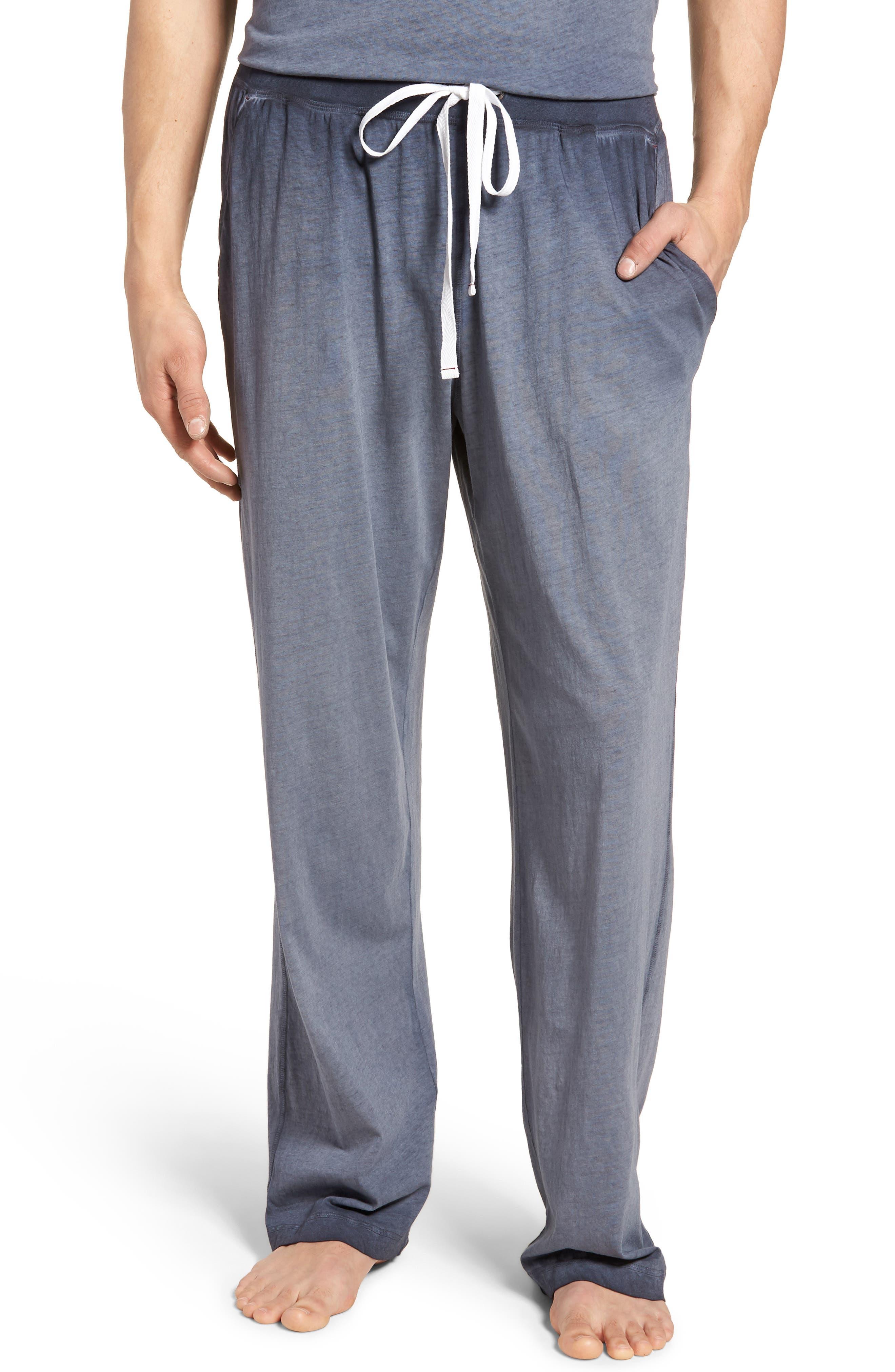 Cotton Lounge Pants,                         Main,                         color, Navy