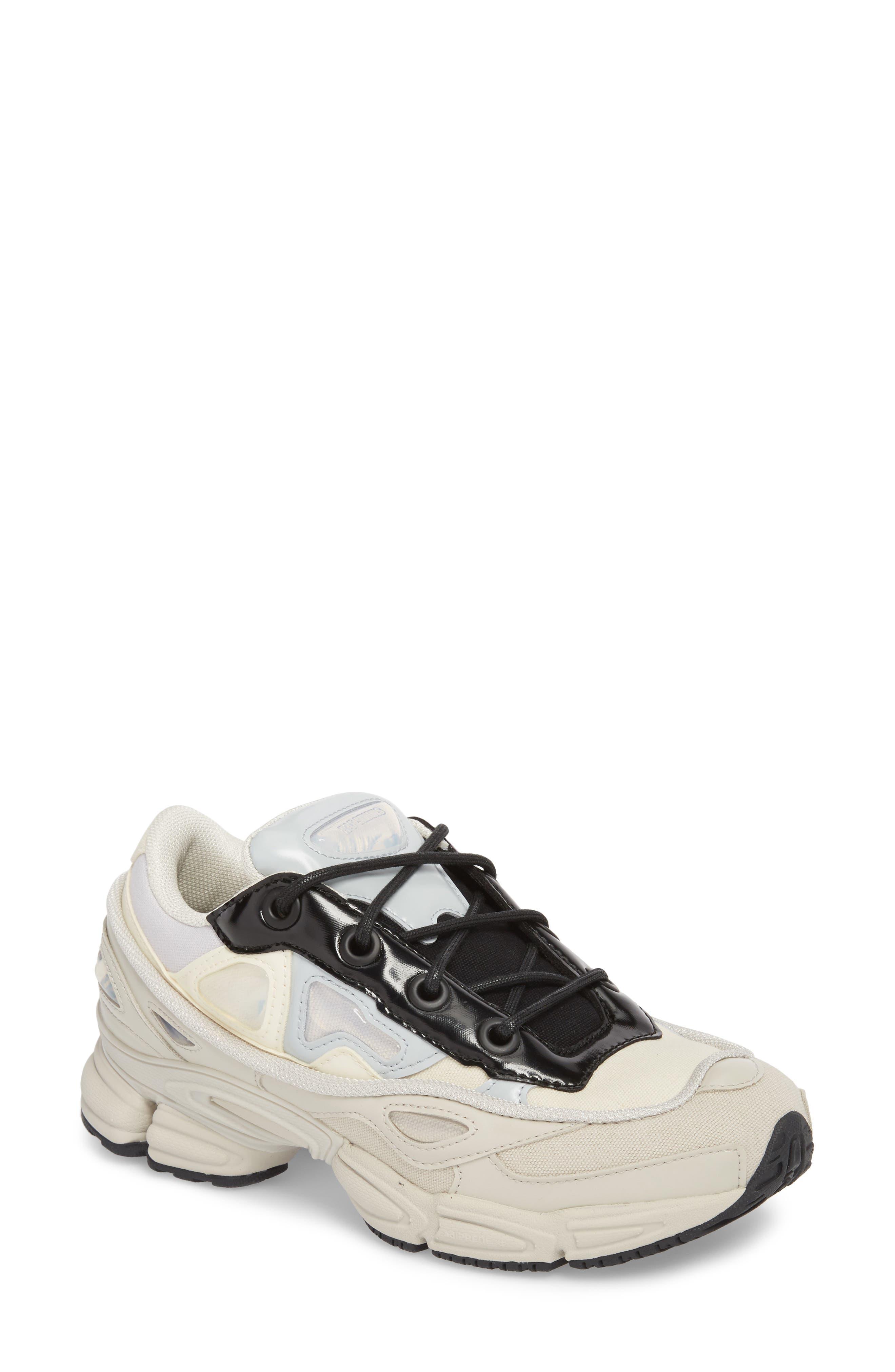 adidas by Raf Simons Ozweego III Sneaker,                             Main thumbnail 1, color,                             Cream White/ Mist Stone/ Black