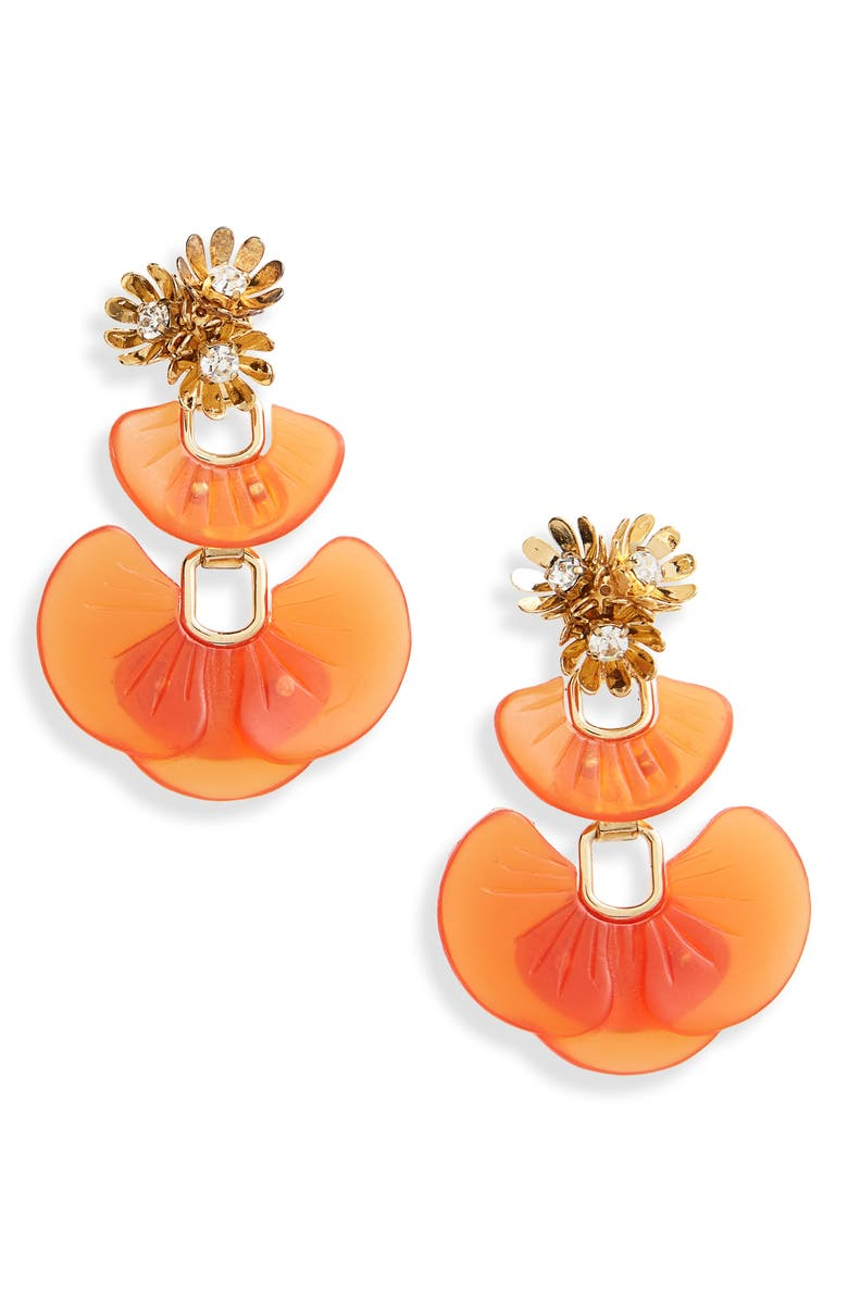 Lele Sadoughi Island Shell Drop Earrings In Amber