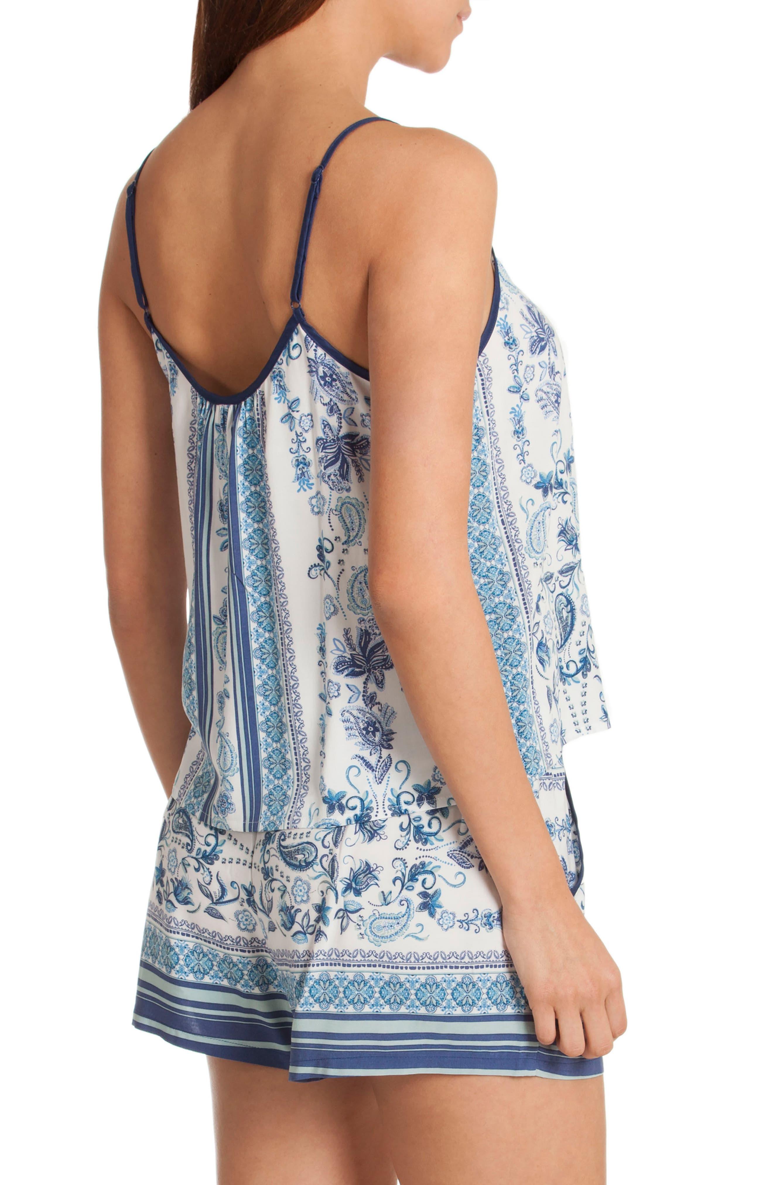 Short Pajamas,                             Alternate thumbnail 2, color,                             Blue/ White Print