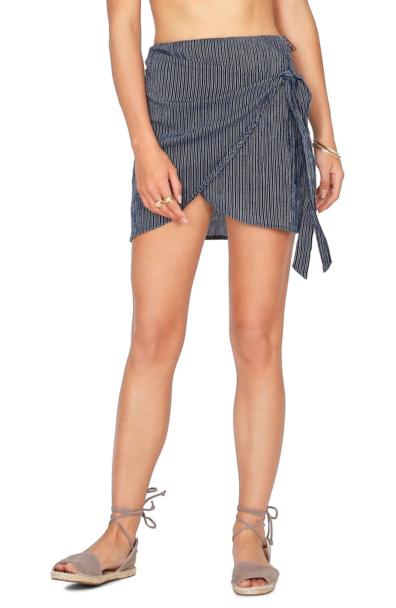 Amuse Society Spinner Wrap Front Skirt