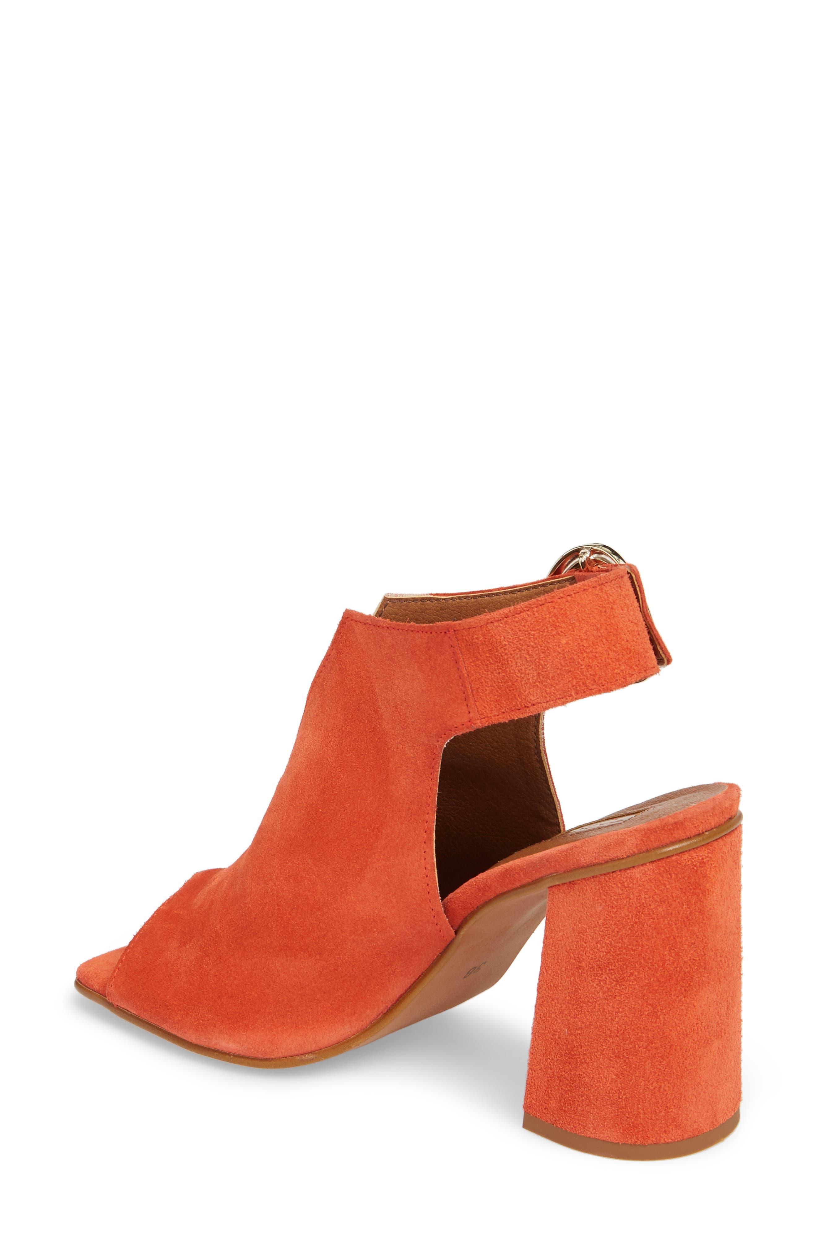 Nika Flared Heel Slingback Sandal,                             Alternate thumbnail 2, color,                             Orange