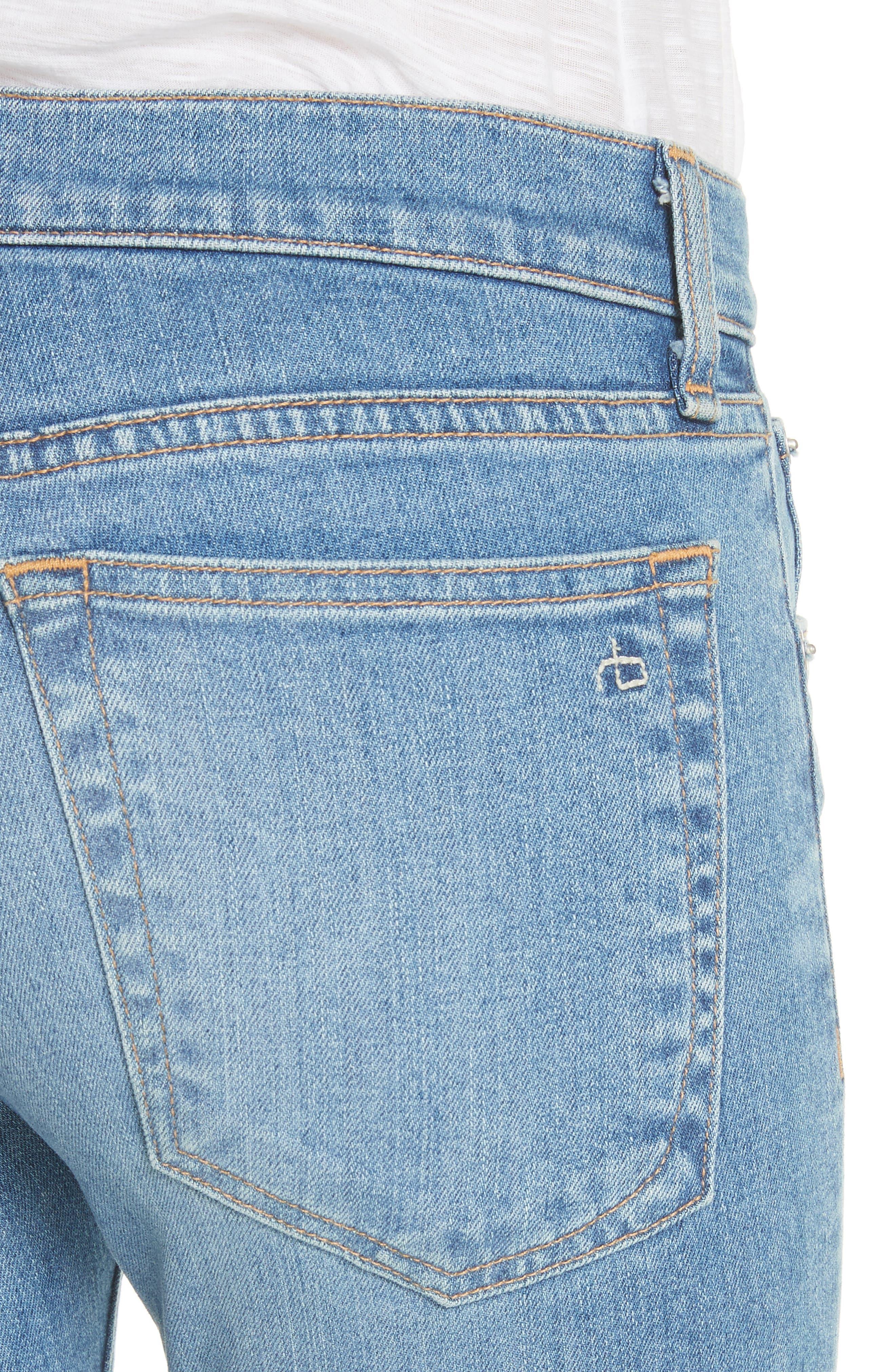 The Dre Ankle Slim Boyfriend Jeans,                             Alternate thumbnail 4, color,                             Bulwarks