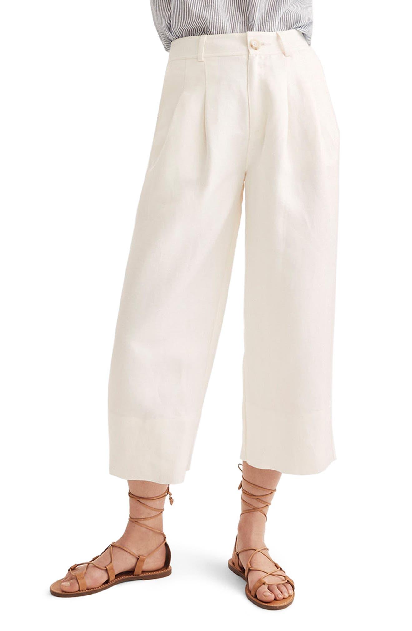 Madewell Linen Blend Wide Leg Pants