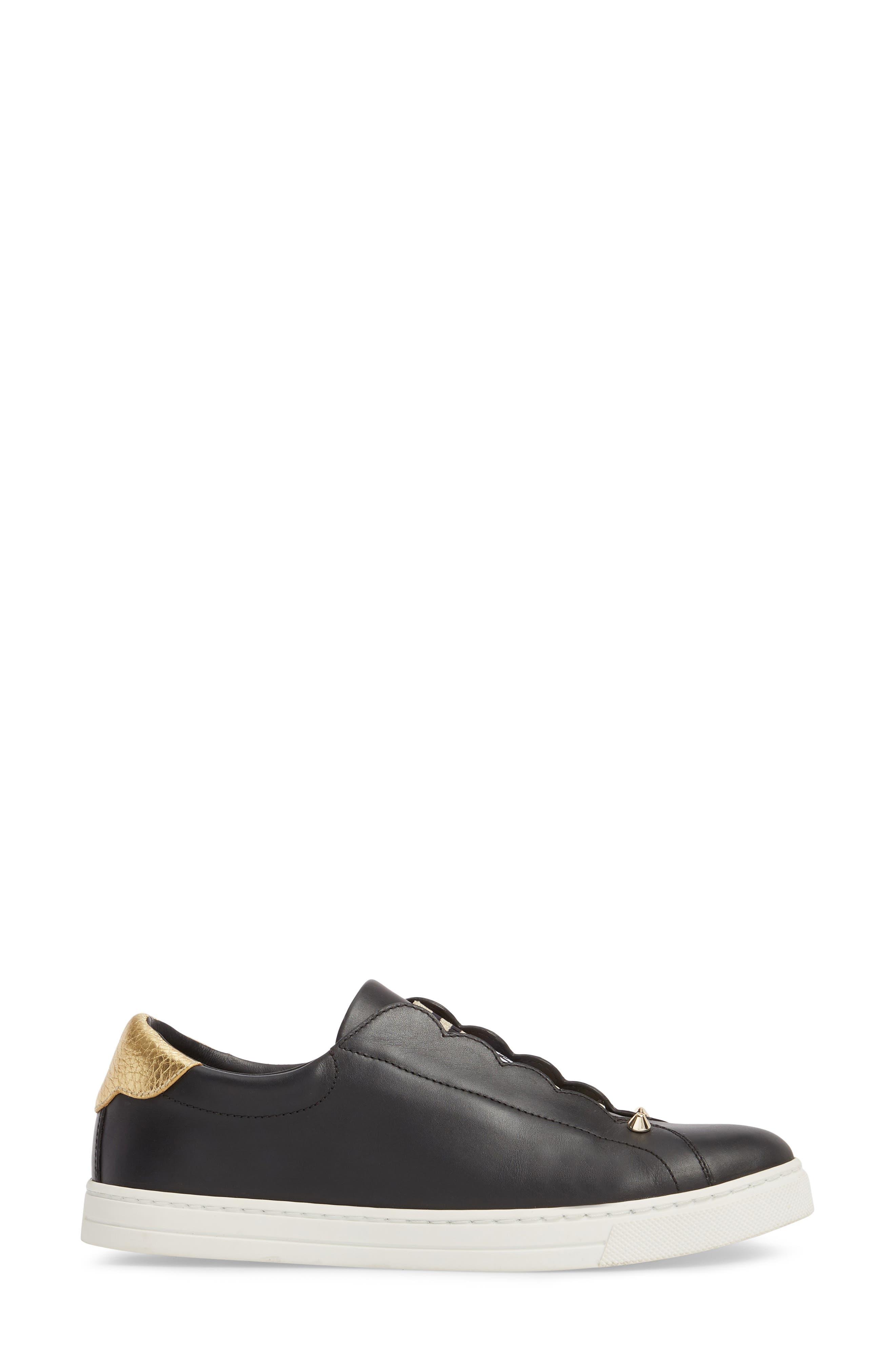 Rockono Slip-On Sneaker,                             Alternate thumbnail 3, color,                             Black