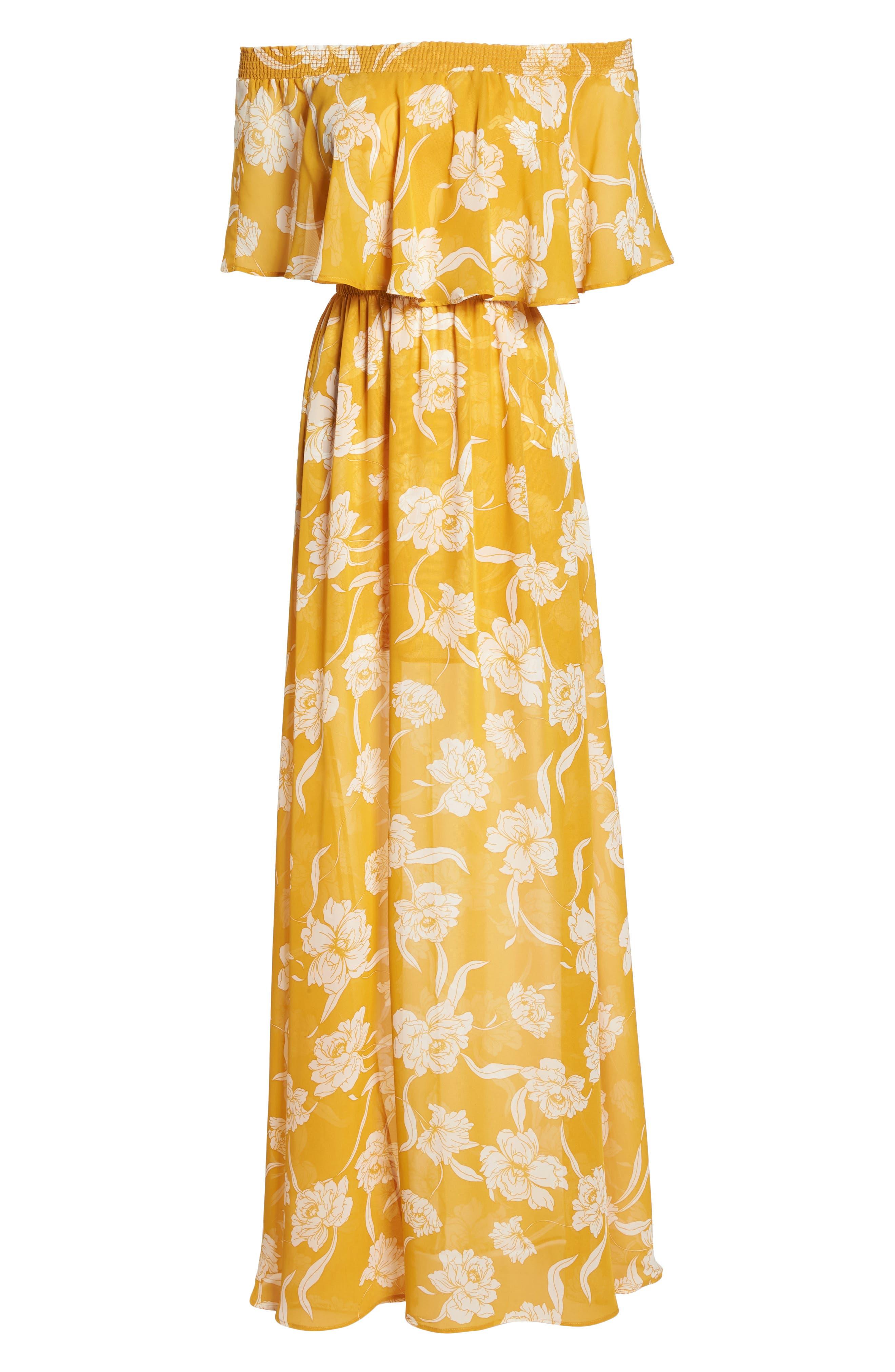 Hacienda Convertible Gown,                             Alternate thumbnail 6, color,                             Bloom Gold