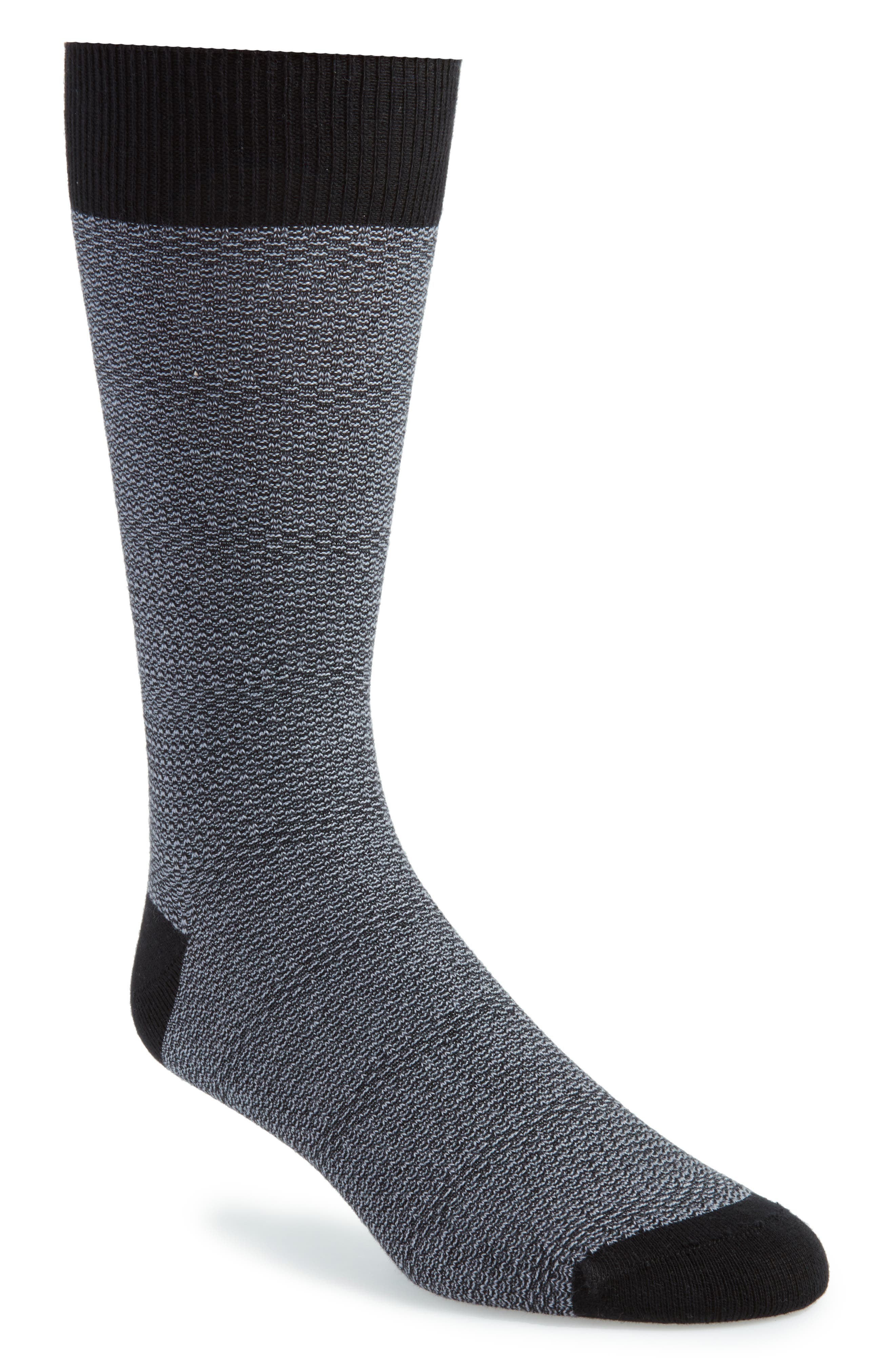Sophshe Solid Socks,                             Main thumbnail 1, color,                             Black