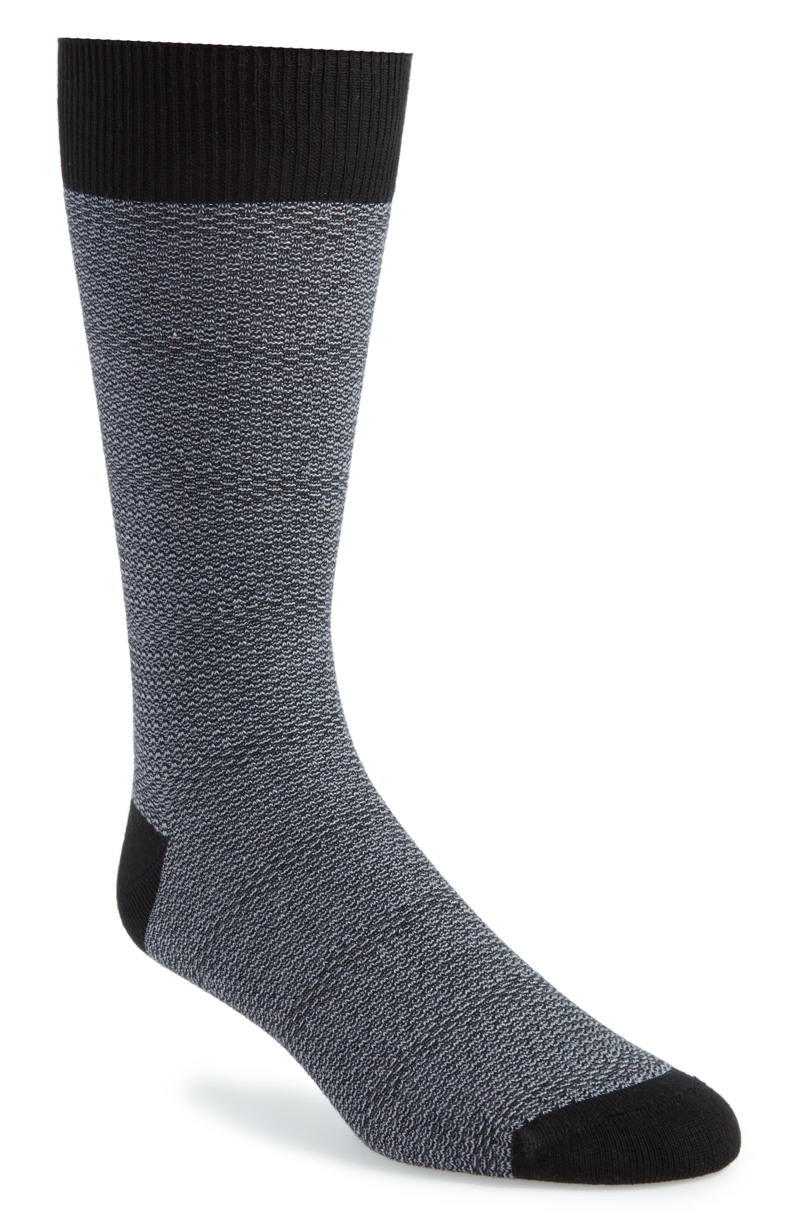 Sophshe Solid Socks,                         Main,                         color, Black