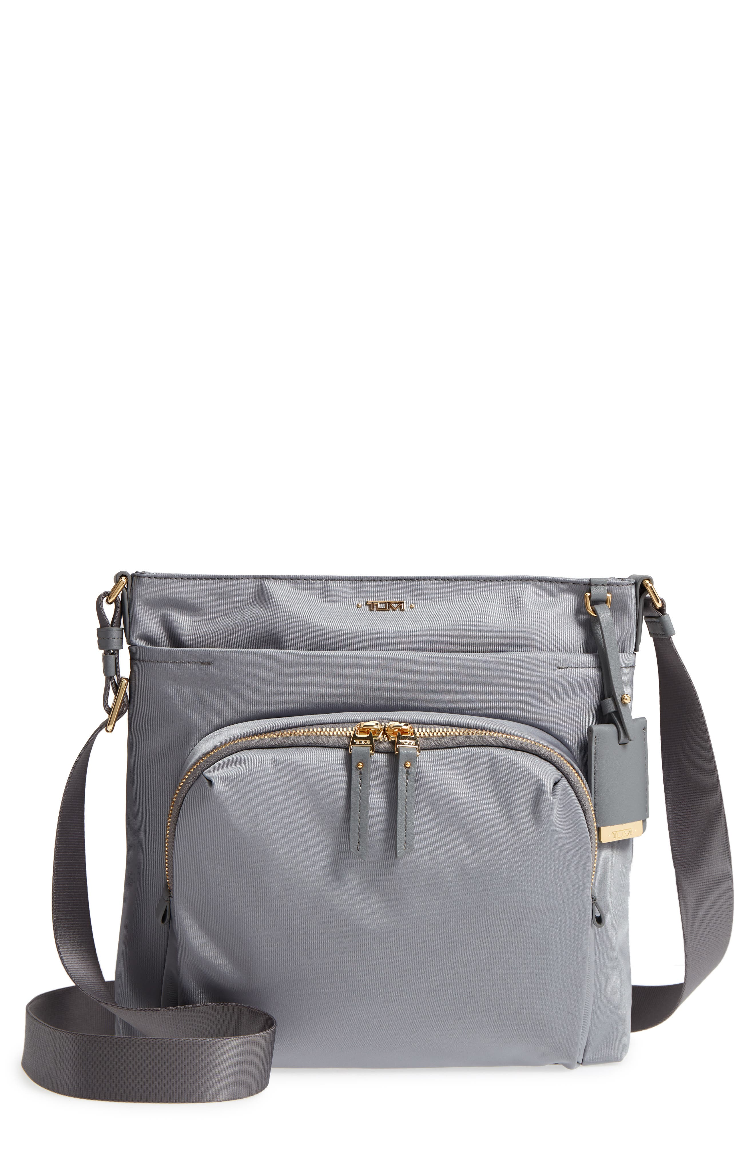 Voyager - Capri Nylon Crossbody Bag,                             Main thumbnail 1, color,                             Grey