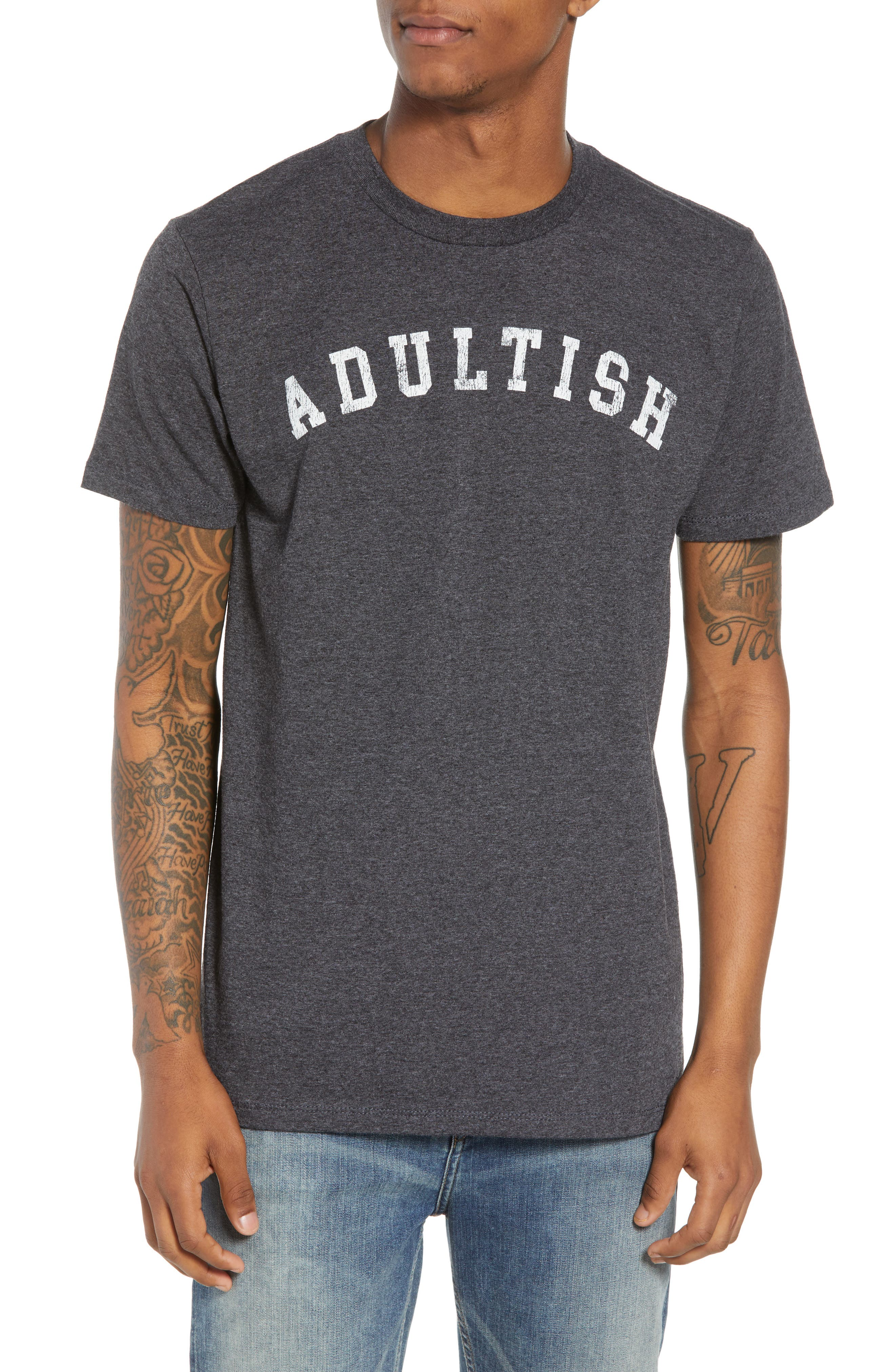 Adultish T-Shirt,                         Main,                         color, Black Tee Adultish