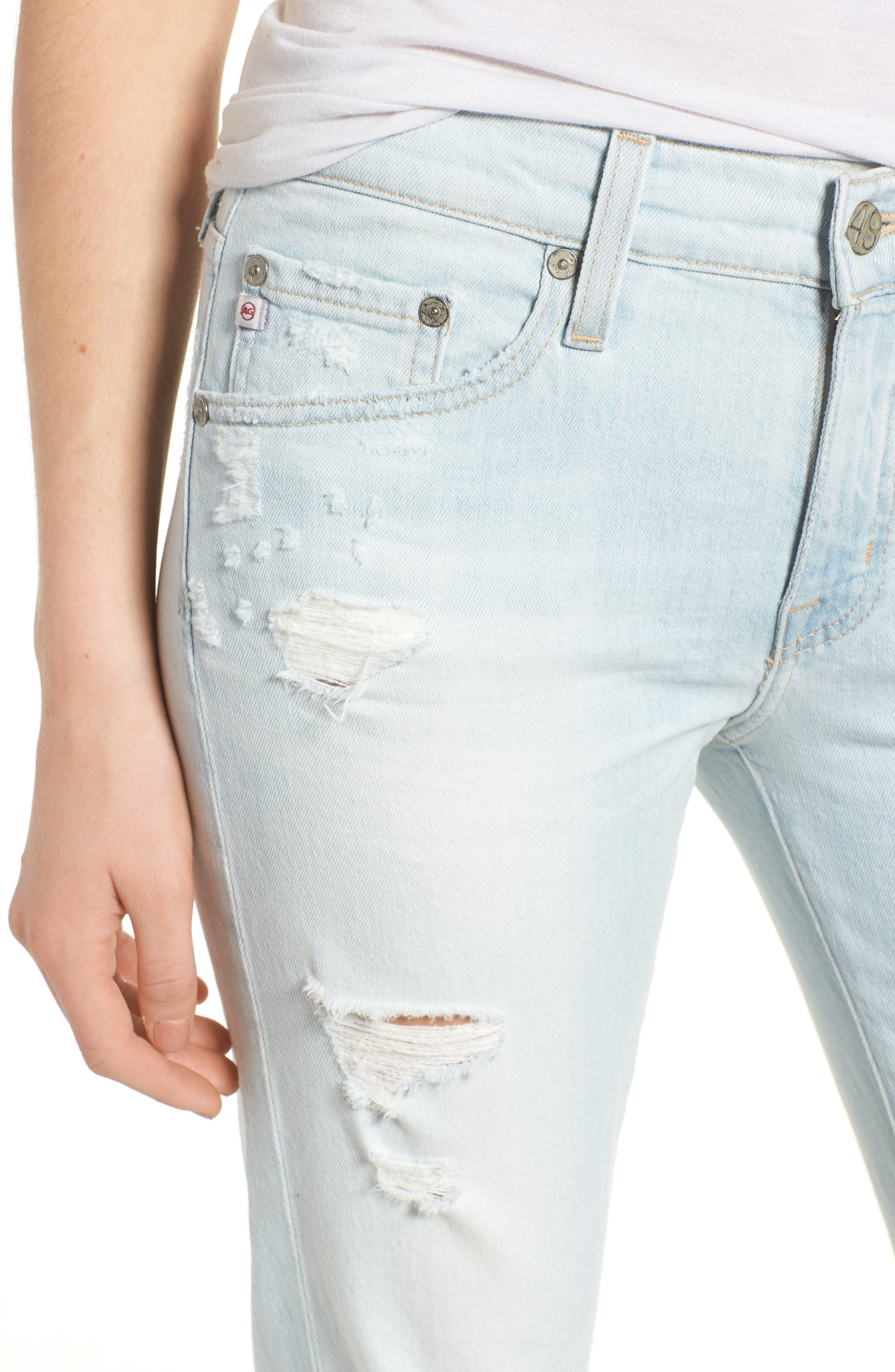 Alternate Image 4  - AG The Ex-Boyfriend Crop Slim Jeans