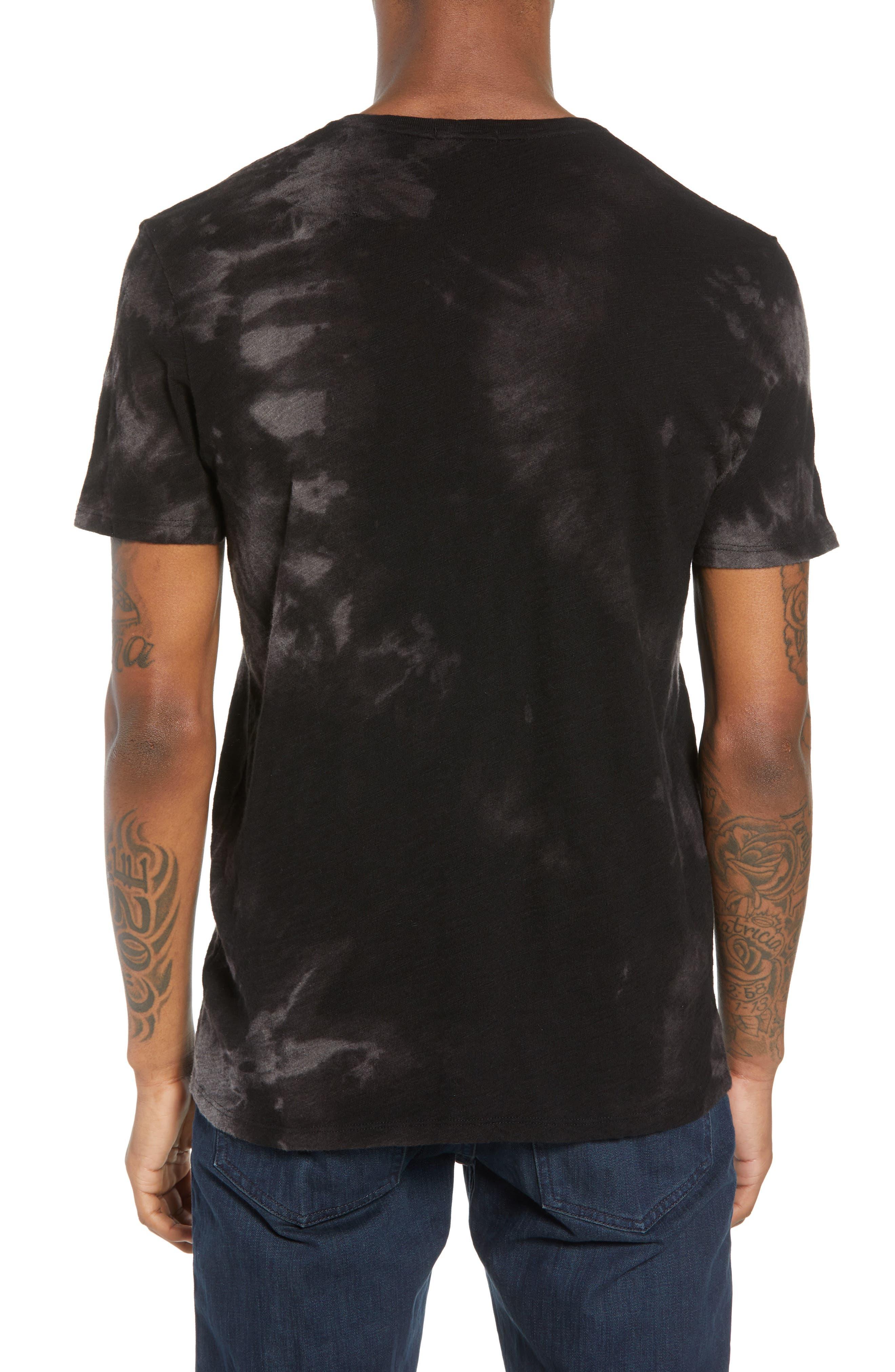 Slub Tie Dye T-Shirt,                             Alternate thumbnail 2, color,                             Black