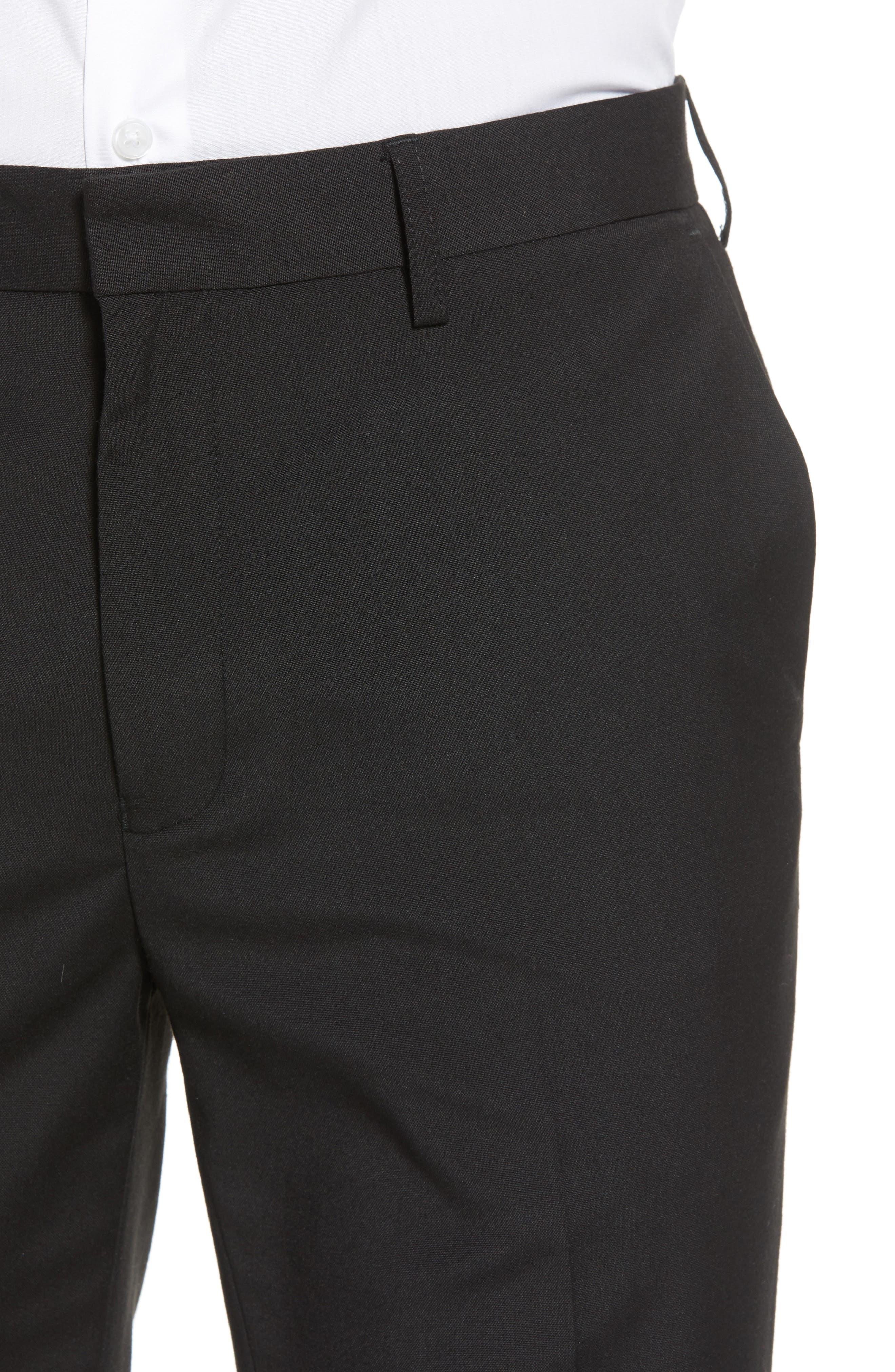 Skinny Fit Suit Pants,                             Alternate thumbnail 4, color,                             Black