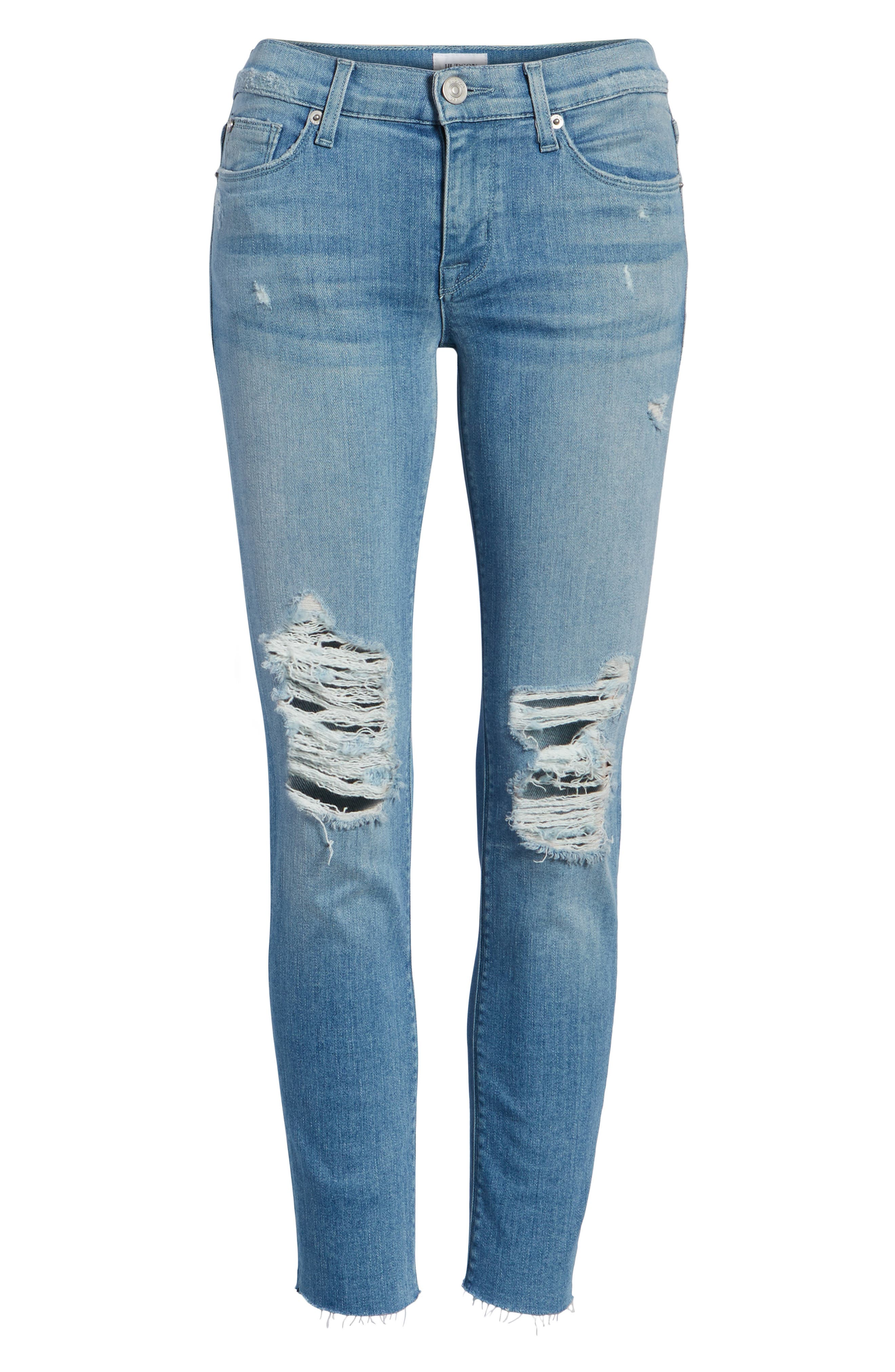 Tally Crop Skinny Jeans,                             Alternate thumbnail 7, color,                             Sugarcoat