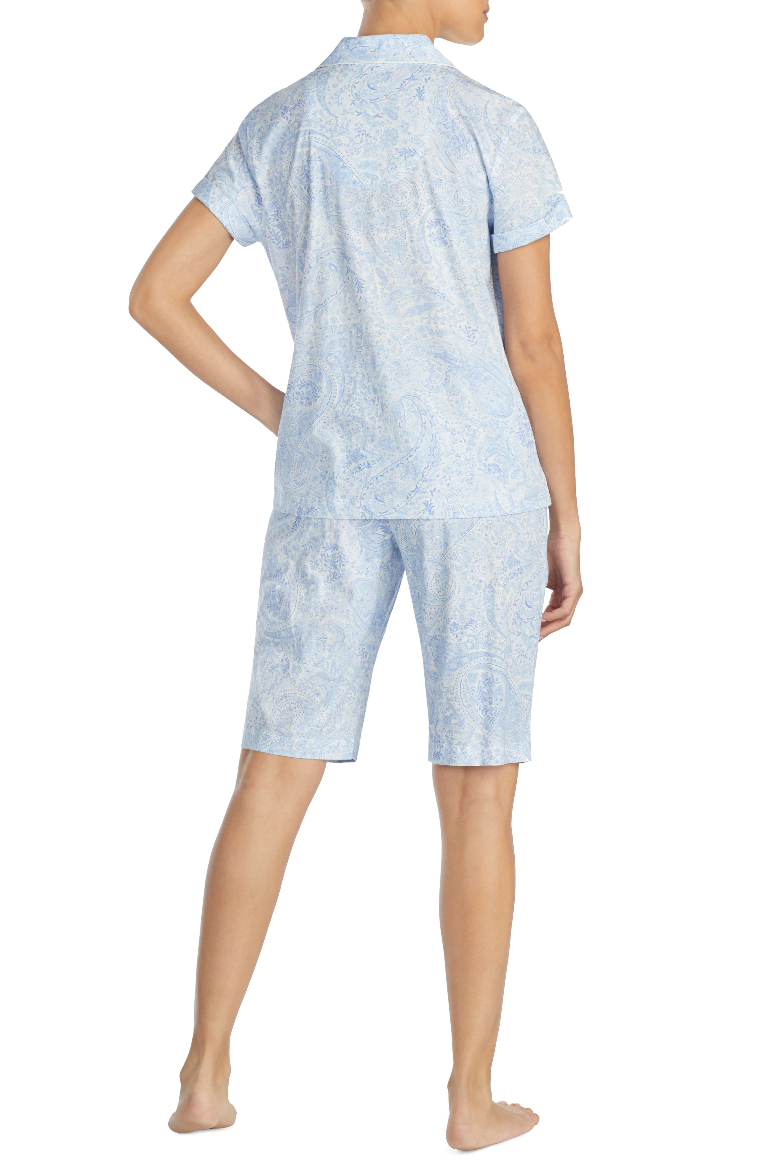 Short Pajamas,                             Alternate thumbnail 2, color,                             Blue Print