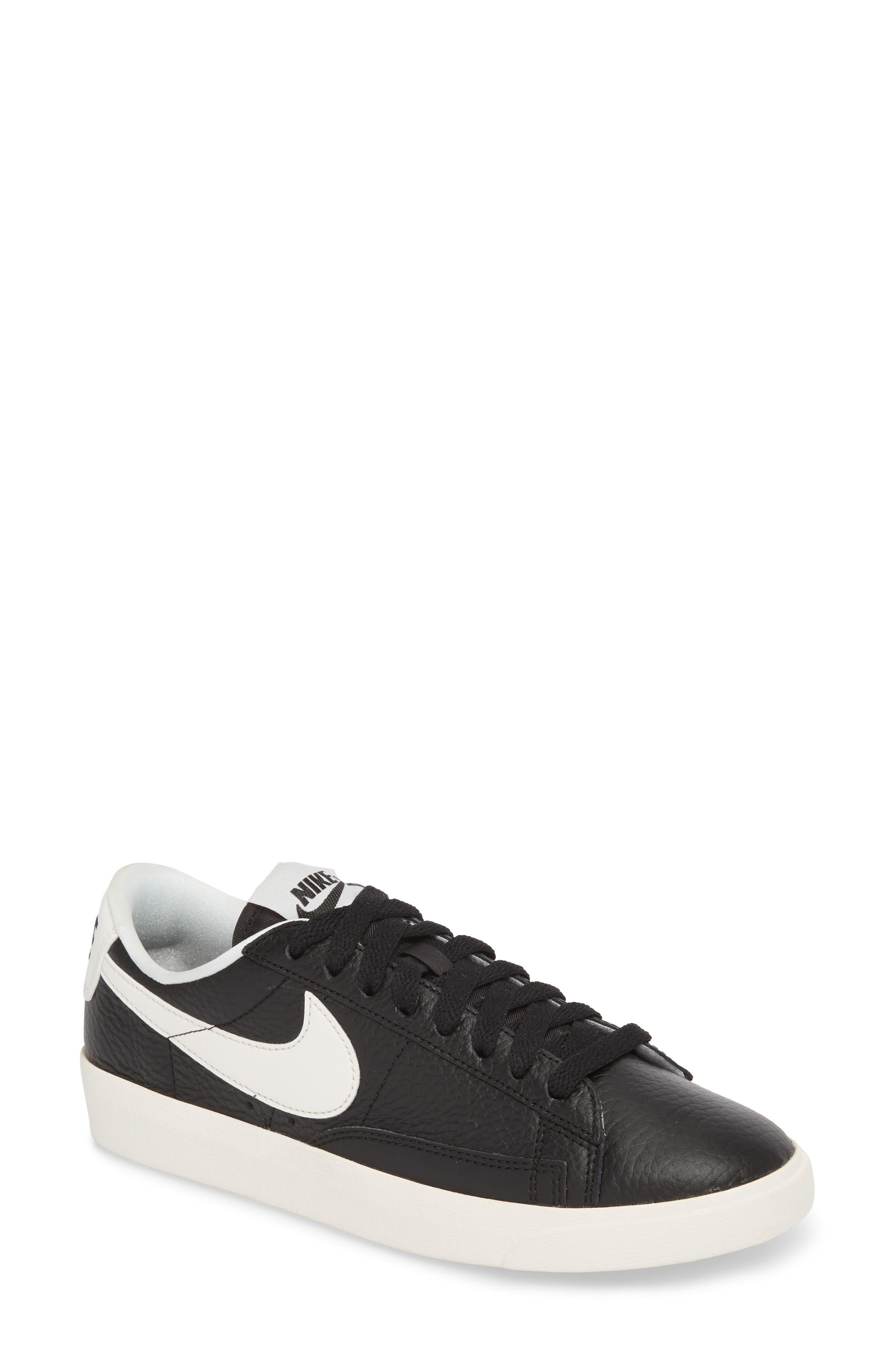 Blazer Premium Low Sneaker,                         Main,                         color, Black/ White/ Black