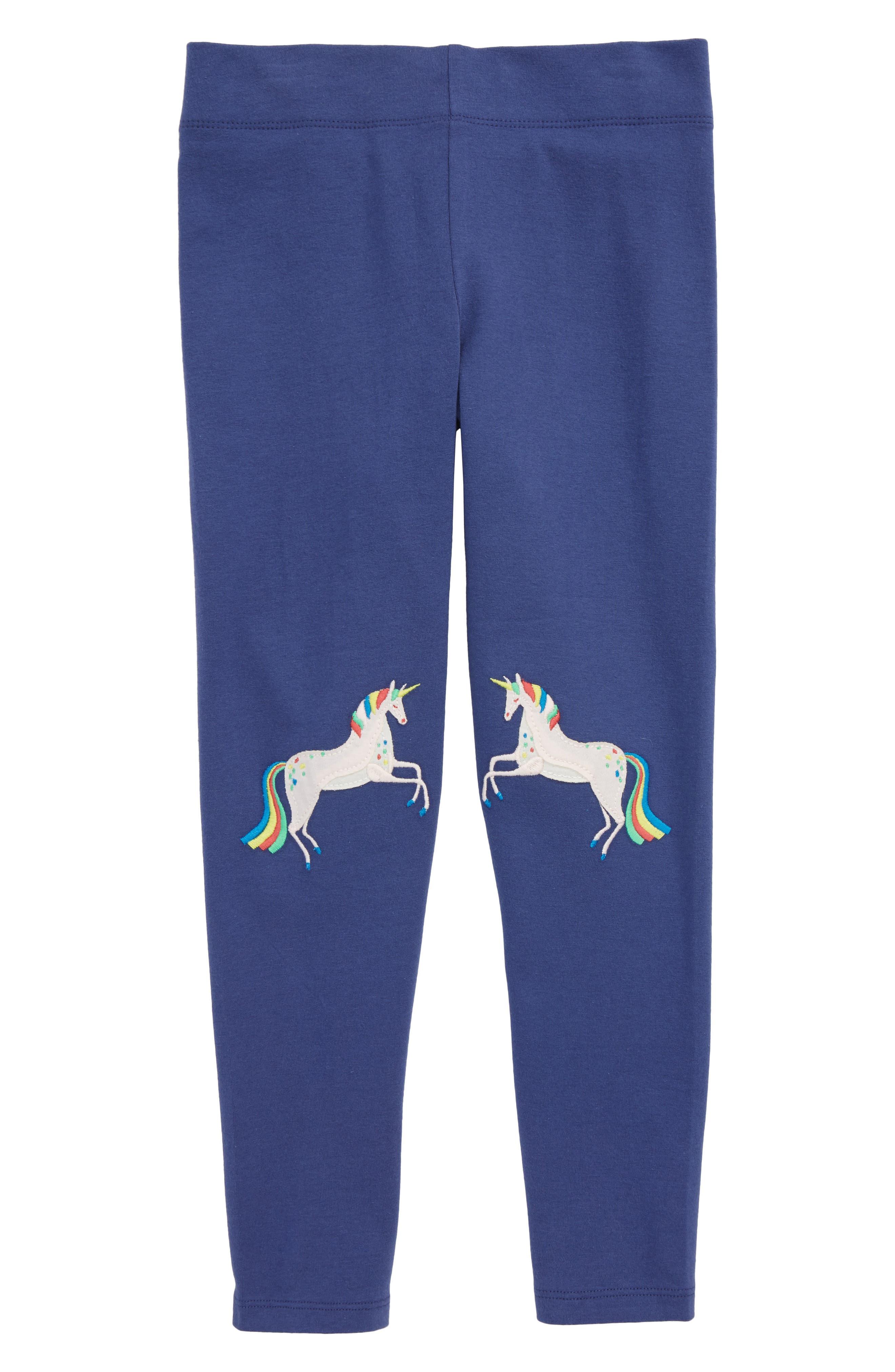 Appliqué Leggings,                         Main,                         color, Navstarboard Blue Unicorns