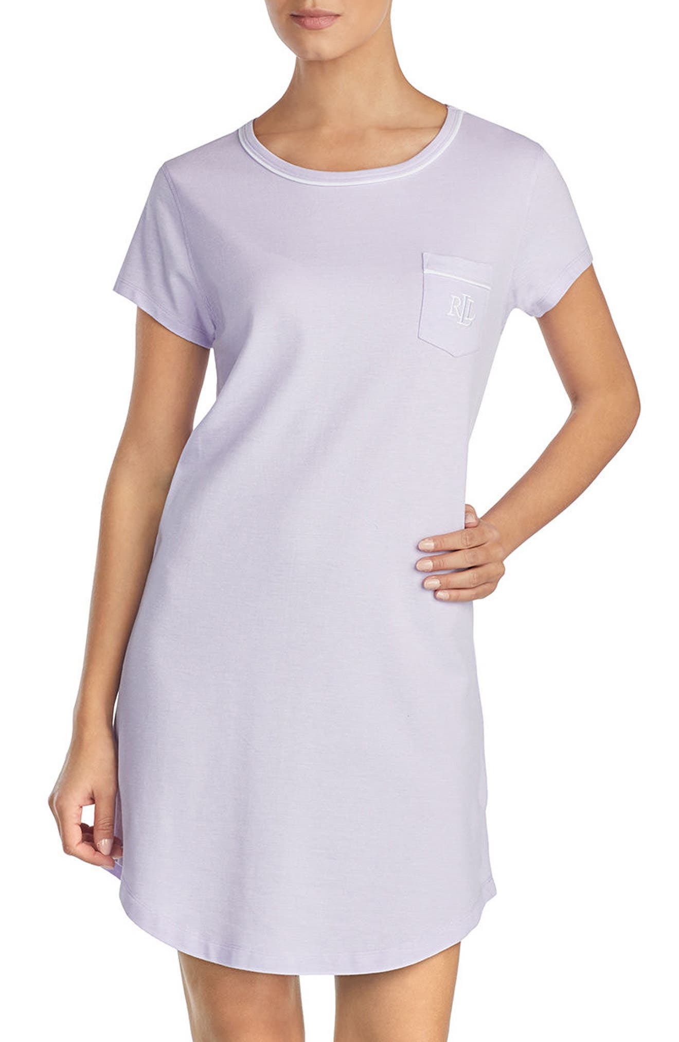Nightgown,                             Alternate thumbnail 3, color,                             Lilac