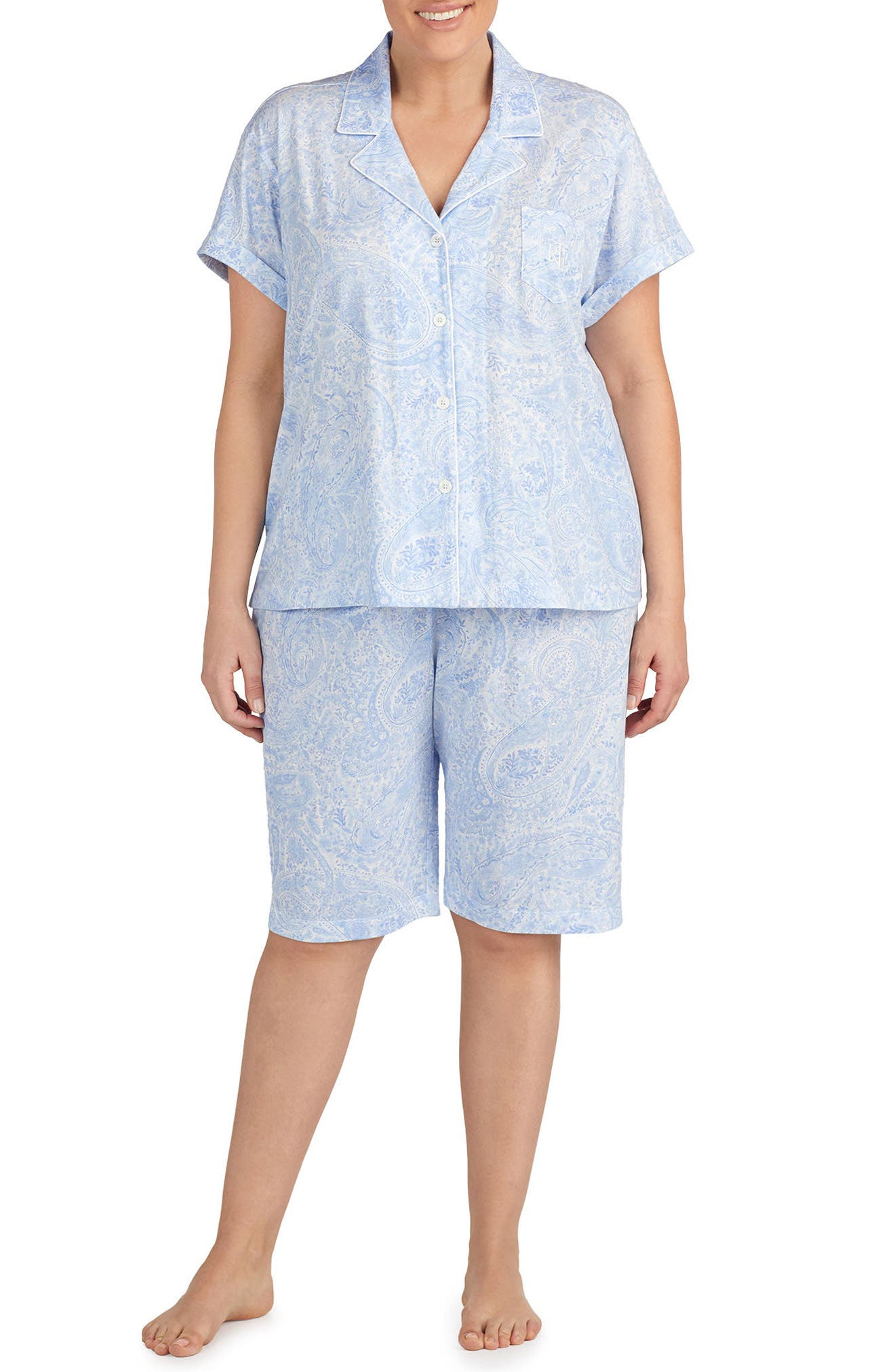 Lauren Ralph Lauren Short Pajamas (Plus Size)