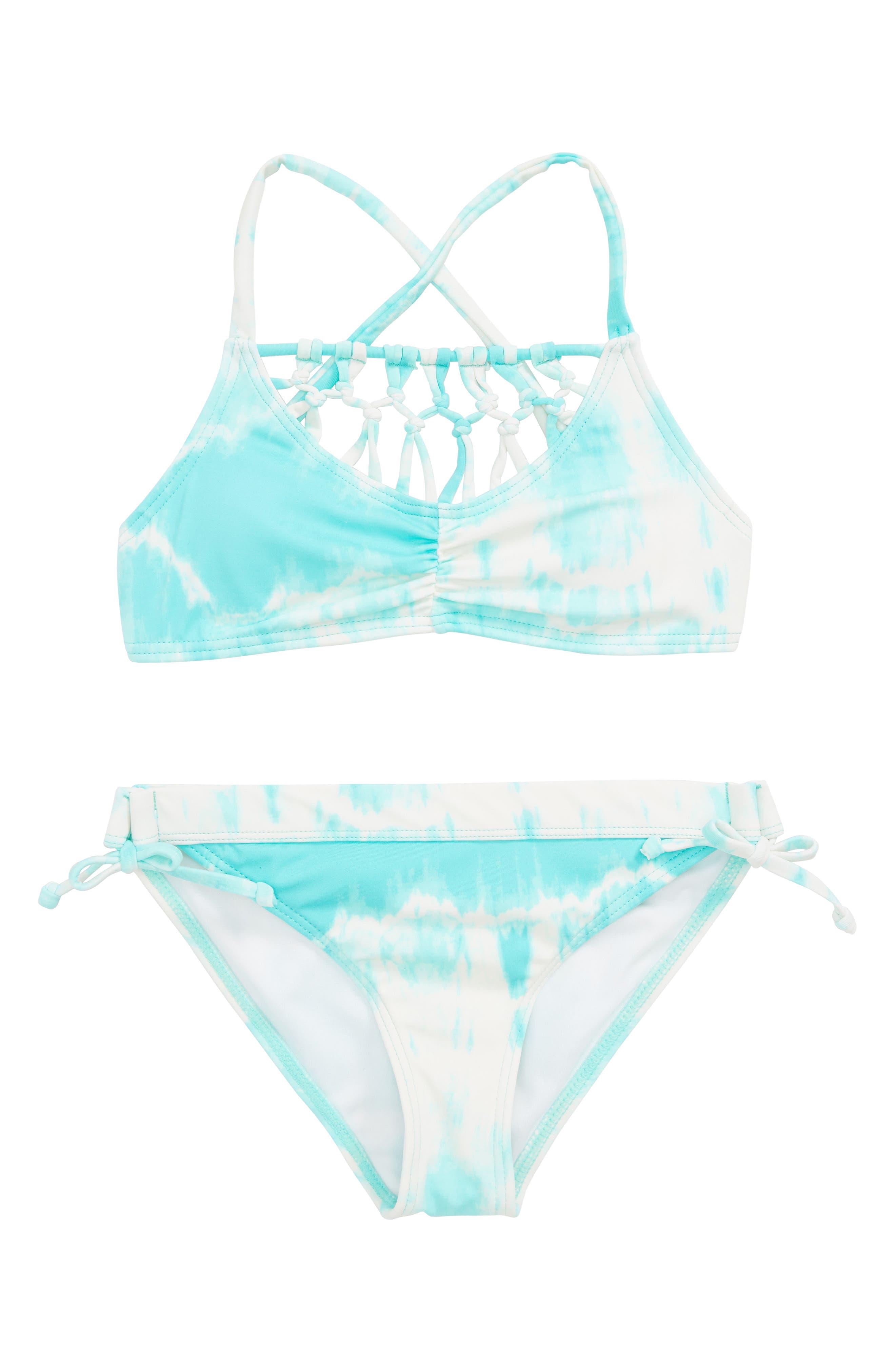 Peace 4 U Two-Piece Swimsuit,                             Main thumbnail 1, color,                             Beach Glass