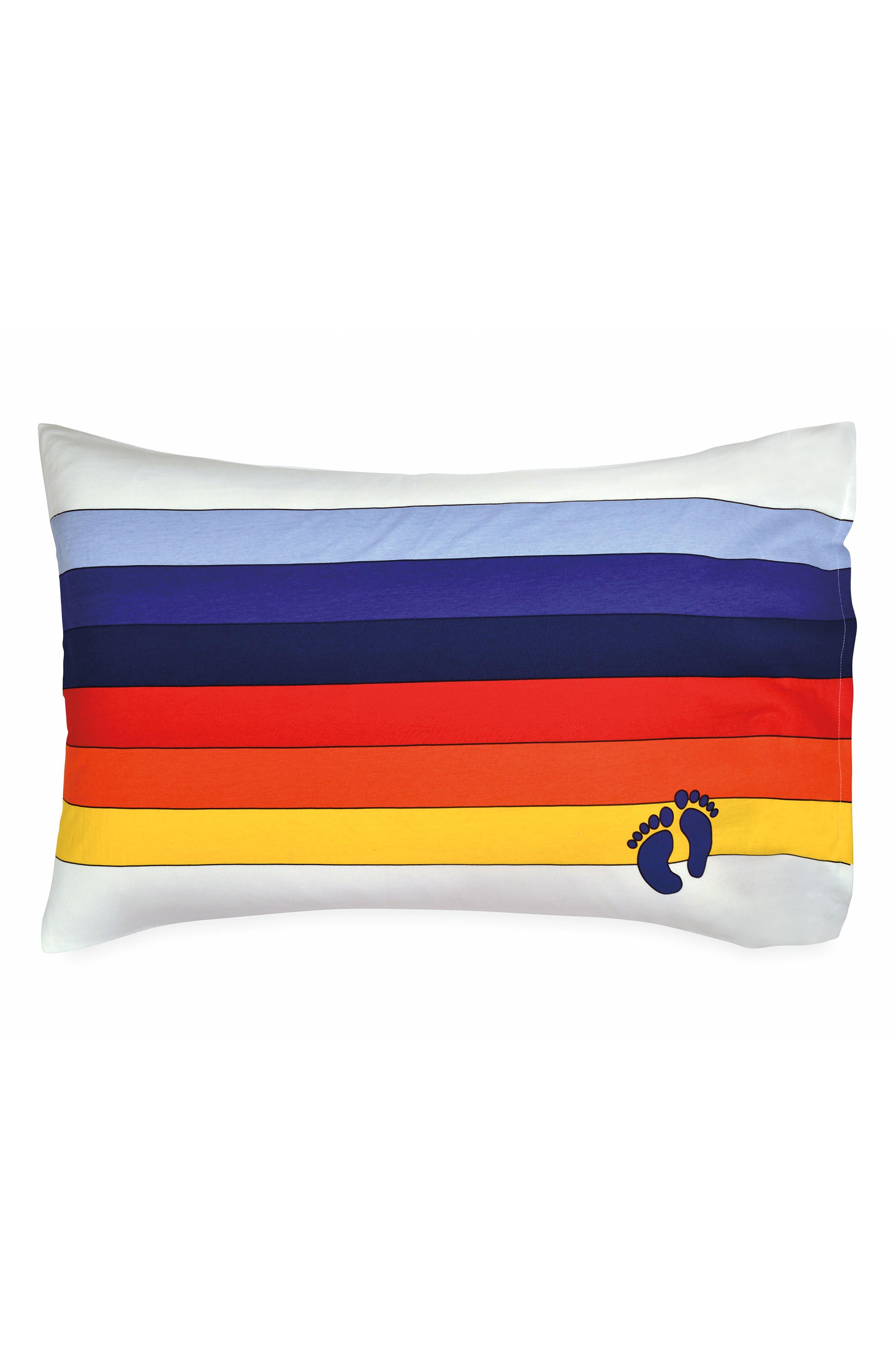 Rainbow Pillowcase,                             Main thumbnail 1, color,                             White