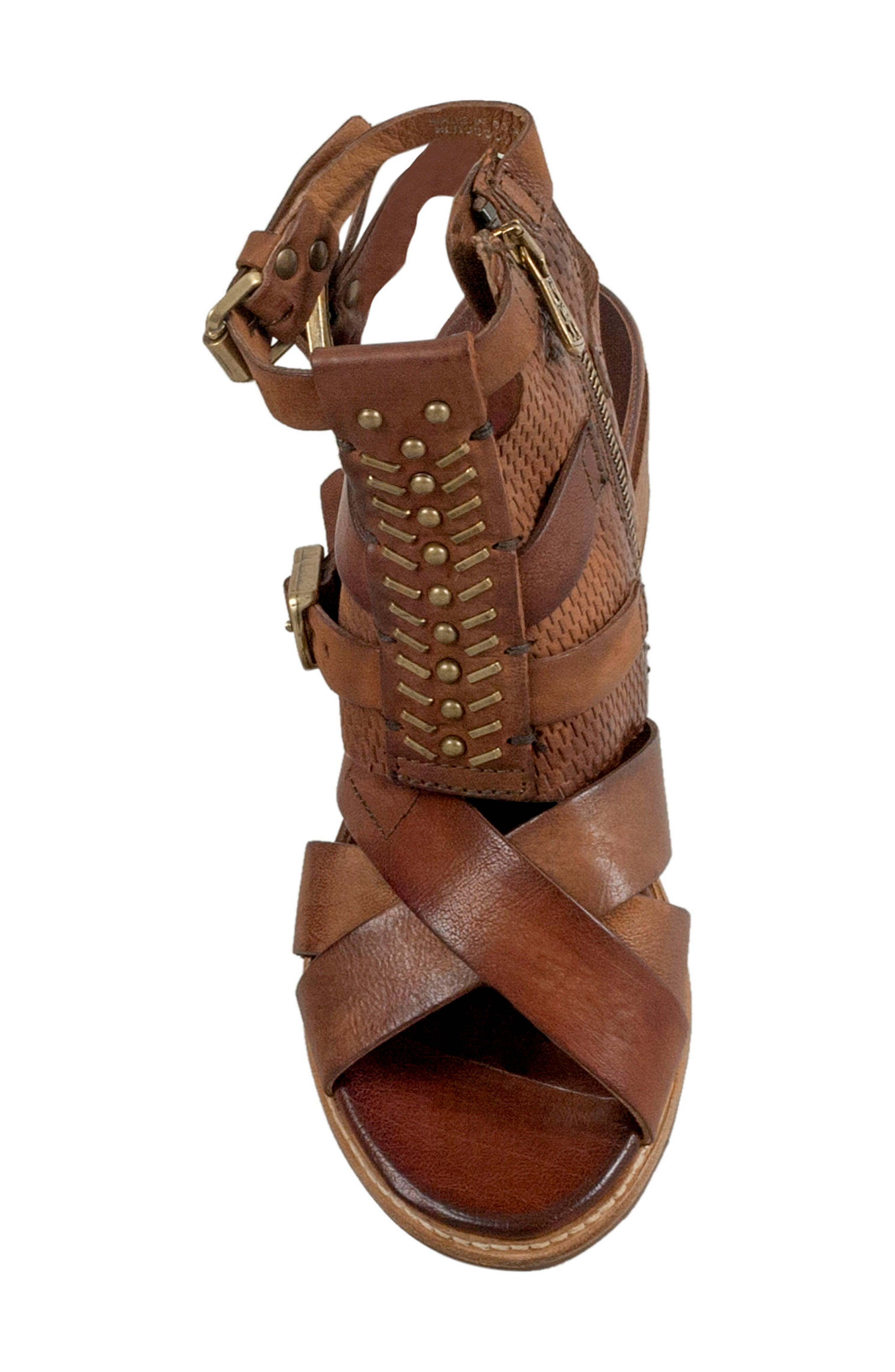 Pennie Gladiator Sandal,                             Alternate thumbnail 5, color,                             Cognac