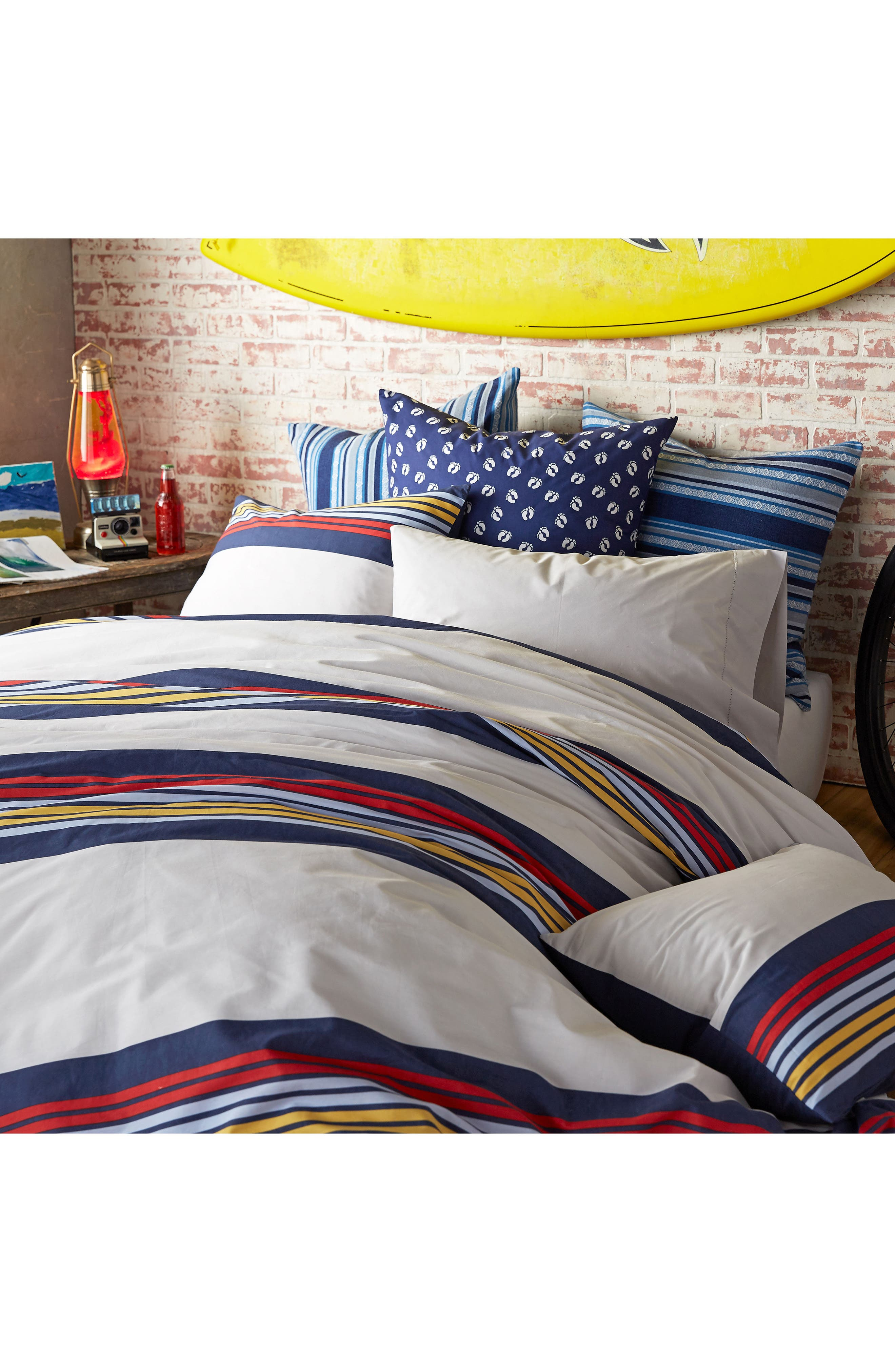 Ocean Beach Duvet Cover & Sham Set,                             Alternate thumbnail 5, color,                             White