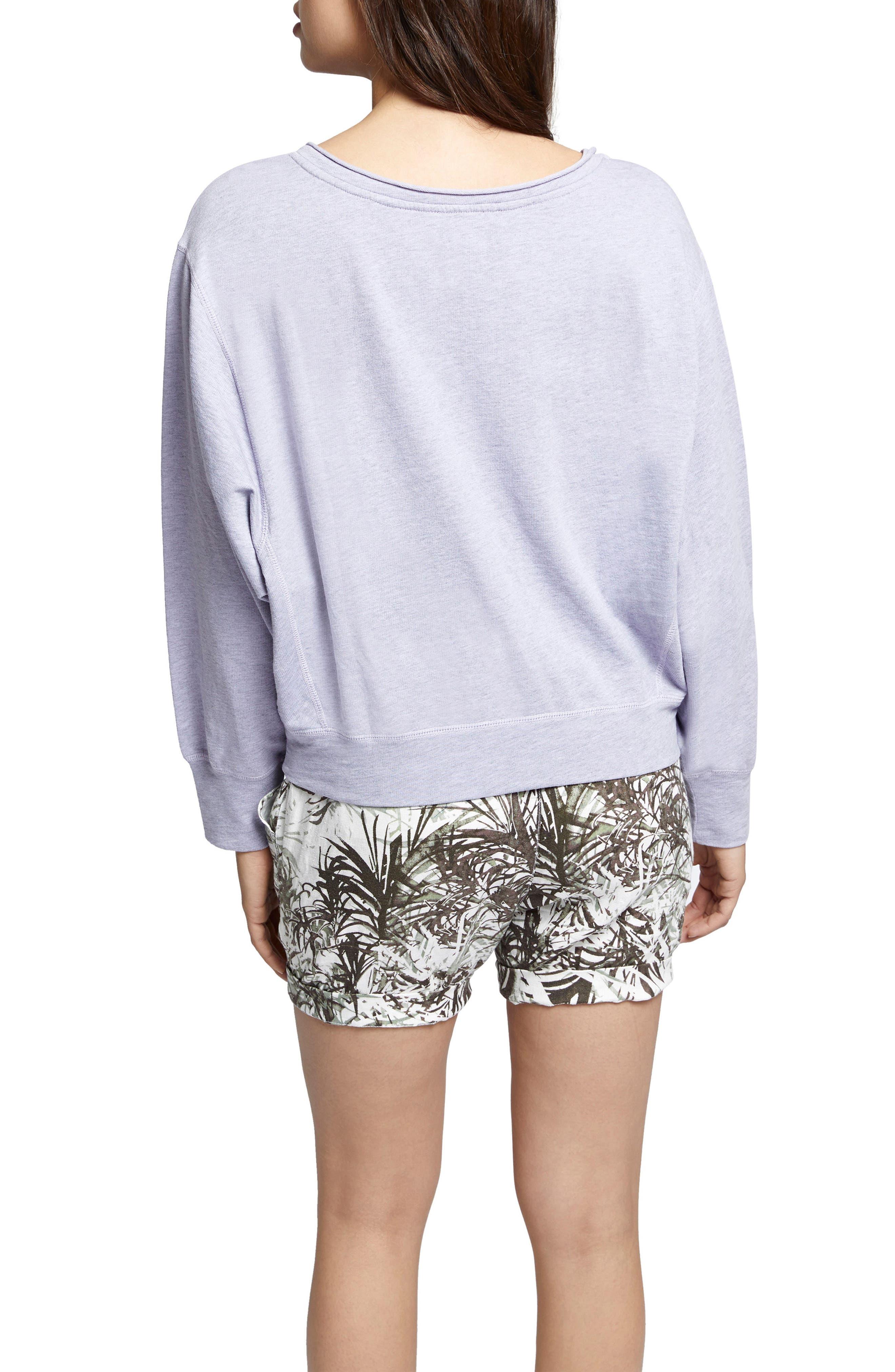Breslin Split Neck Sweatshirt,                             Alternate thumbnail 2, color,                             Orchid