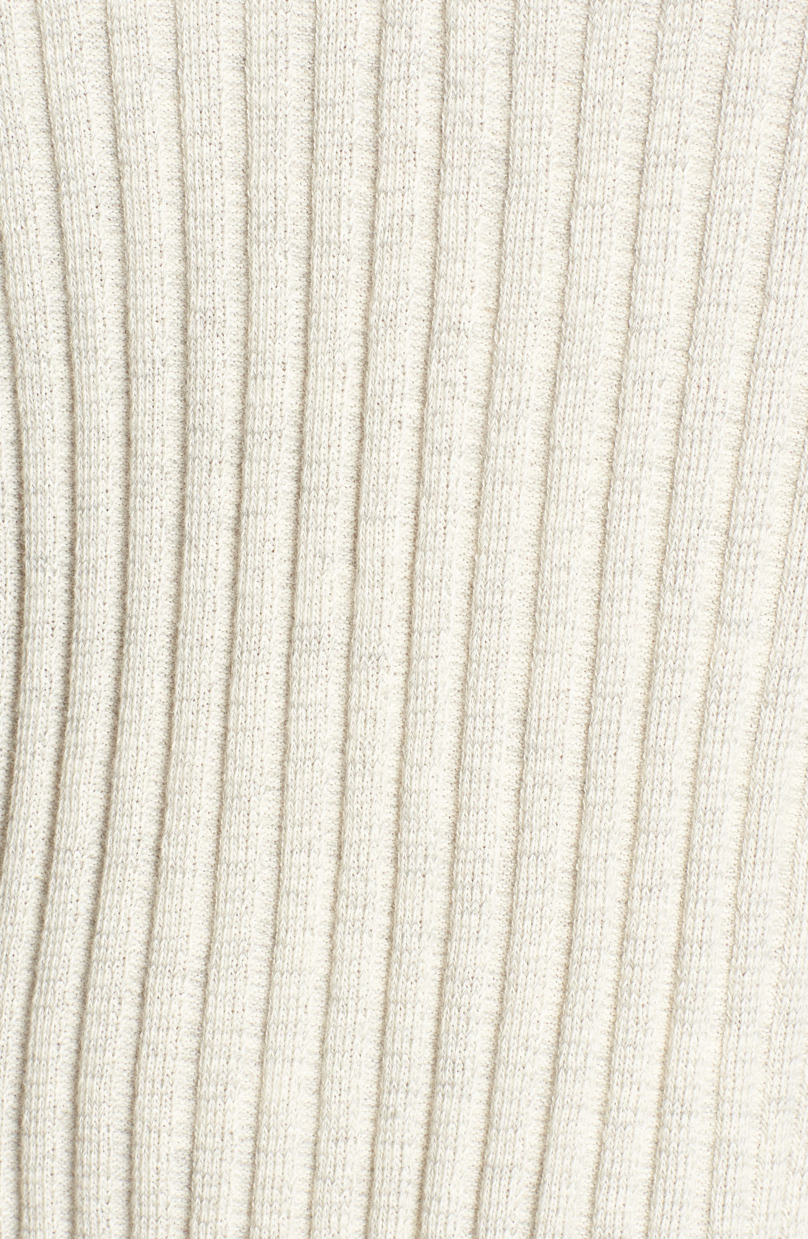 Varsity Stripe Ribbed Sweater,                             Alternate thumbnail 5, color,                             Oatmeal