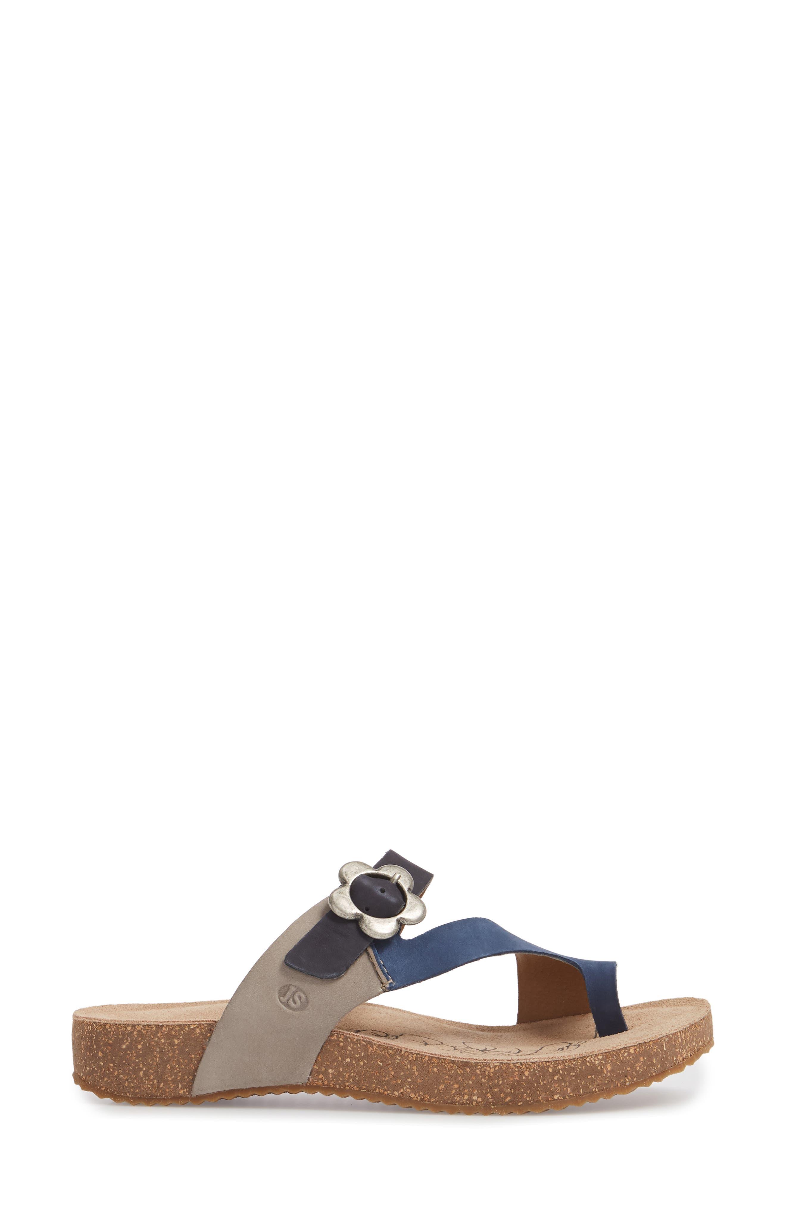 Tonga 23 Sandal,                             Alternate thumbnail 3, color,                             Blue Multi Leather