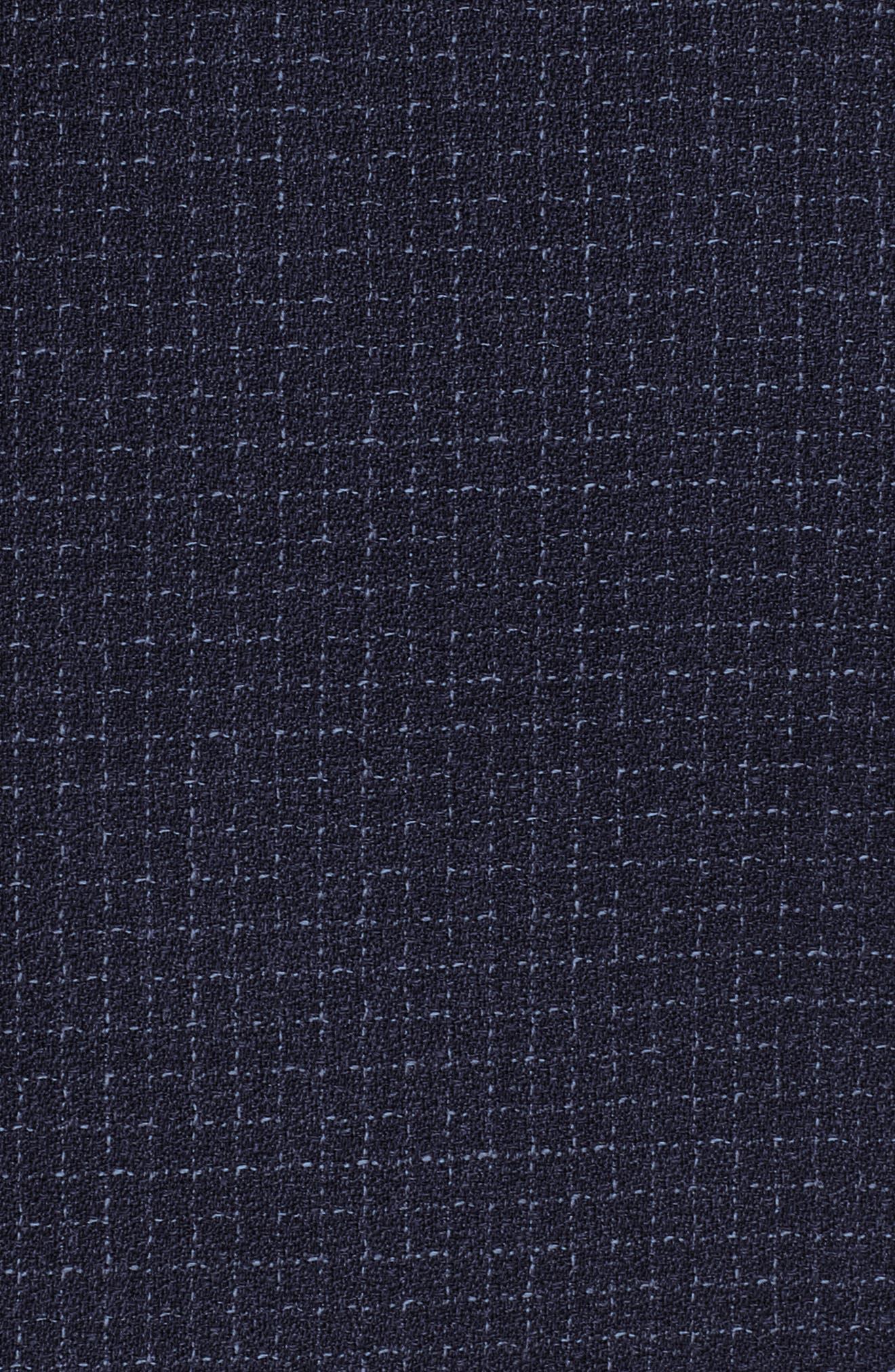 Jibena Windowpane Jacket,                             Alternate thumbnail 5, color,                             Blue Fantasy