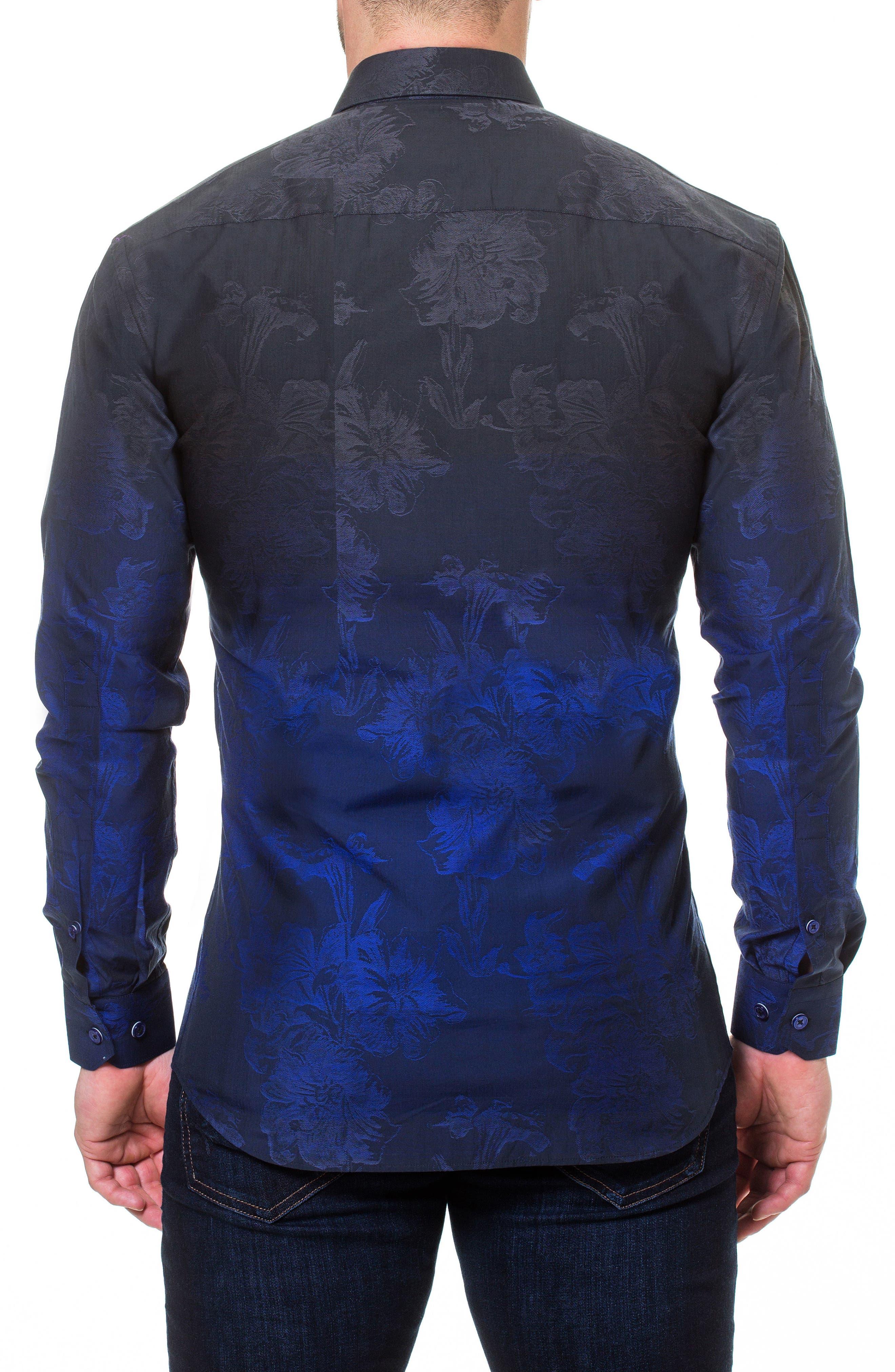 Luxor Mariana Blue Slim Fit Sport Shirt,                             Alternate thumbnail 2, color,                             Blue