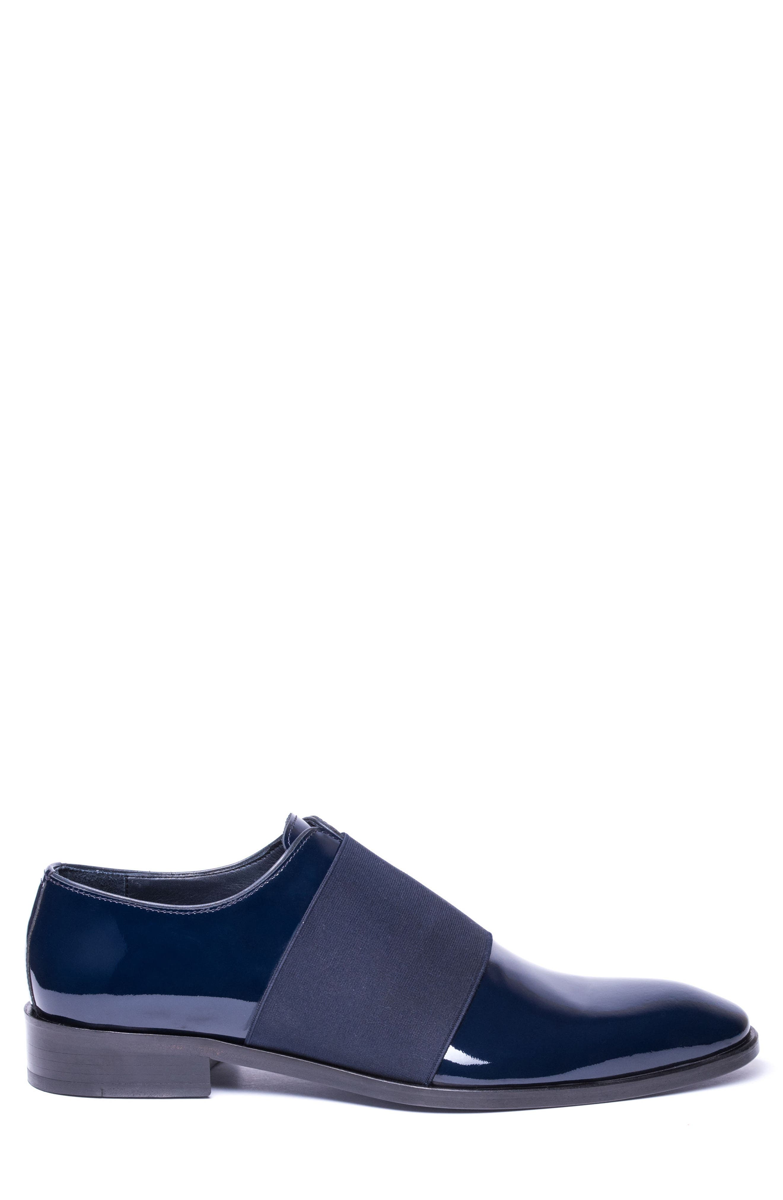 Vincenzo Whole Cut Slip-On,                             Alternate thumbnail 3, color,                             Navy Leather
