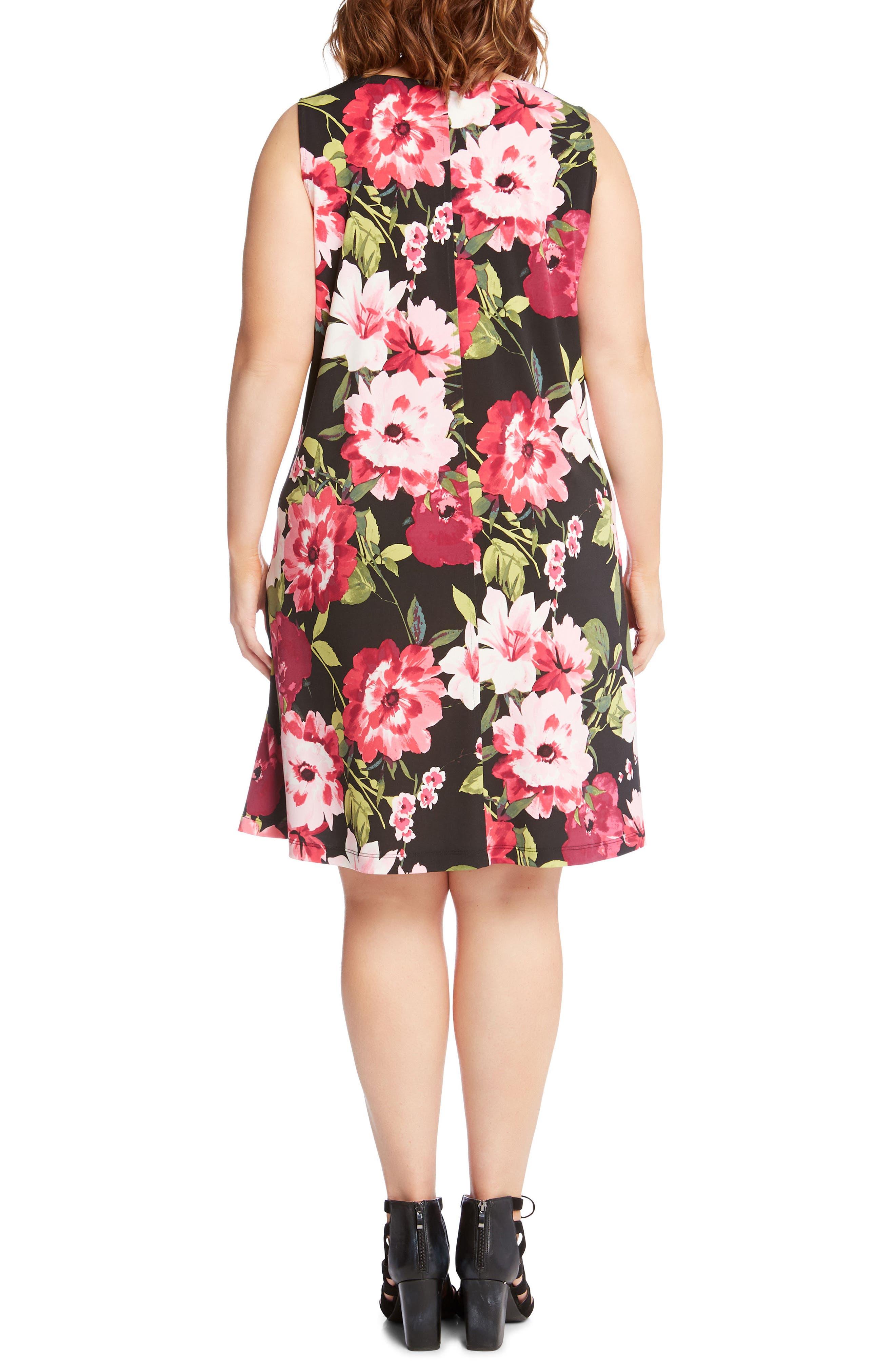 Chloe Floral Trapeze Dress,                             Alternate thumbnail 2, color,                             Flower