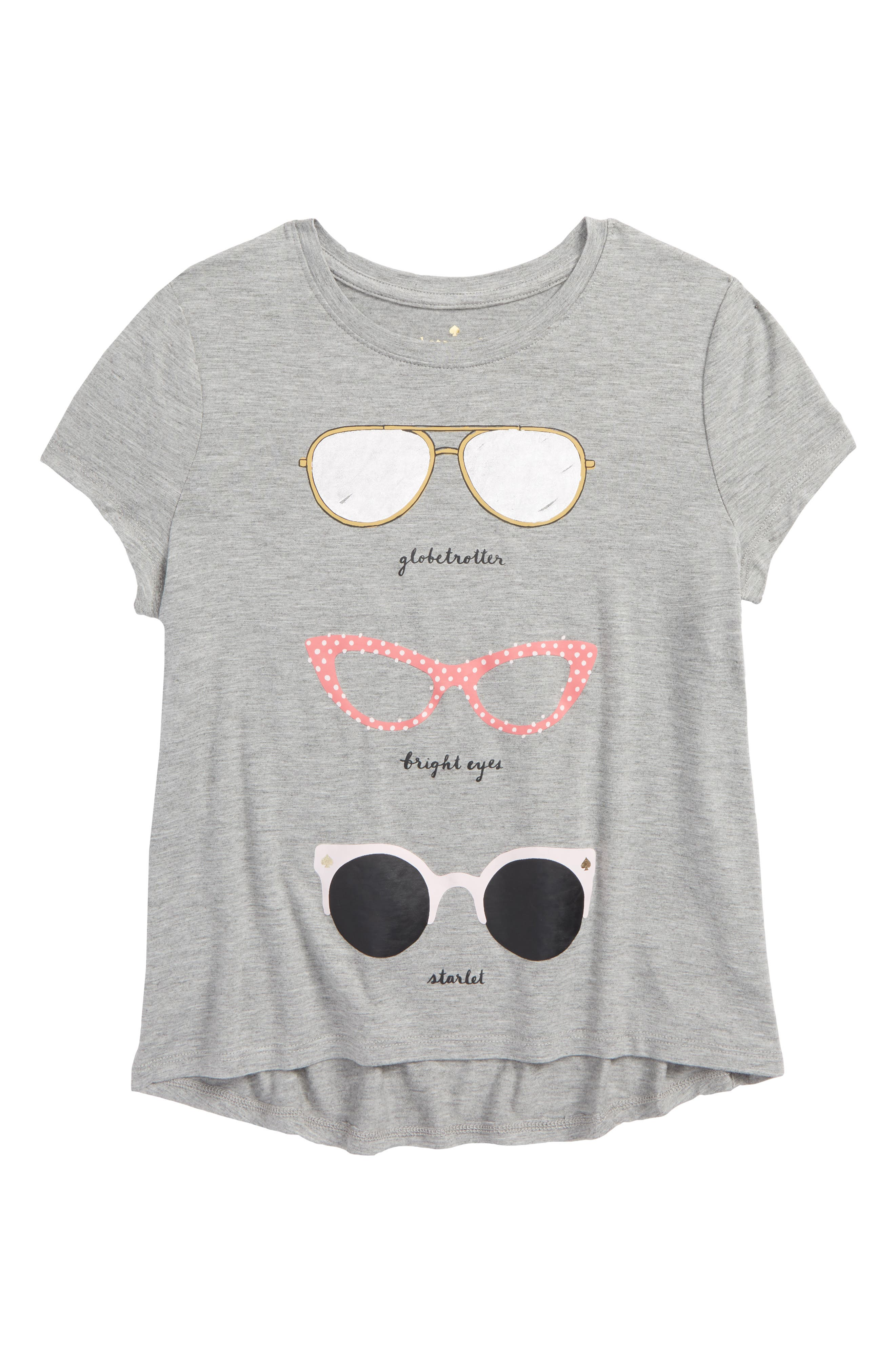 sunglasses graphic tee,                         Main,                         color, Heather Grey