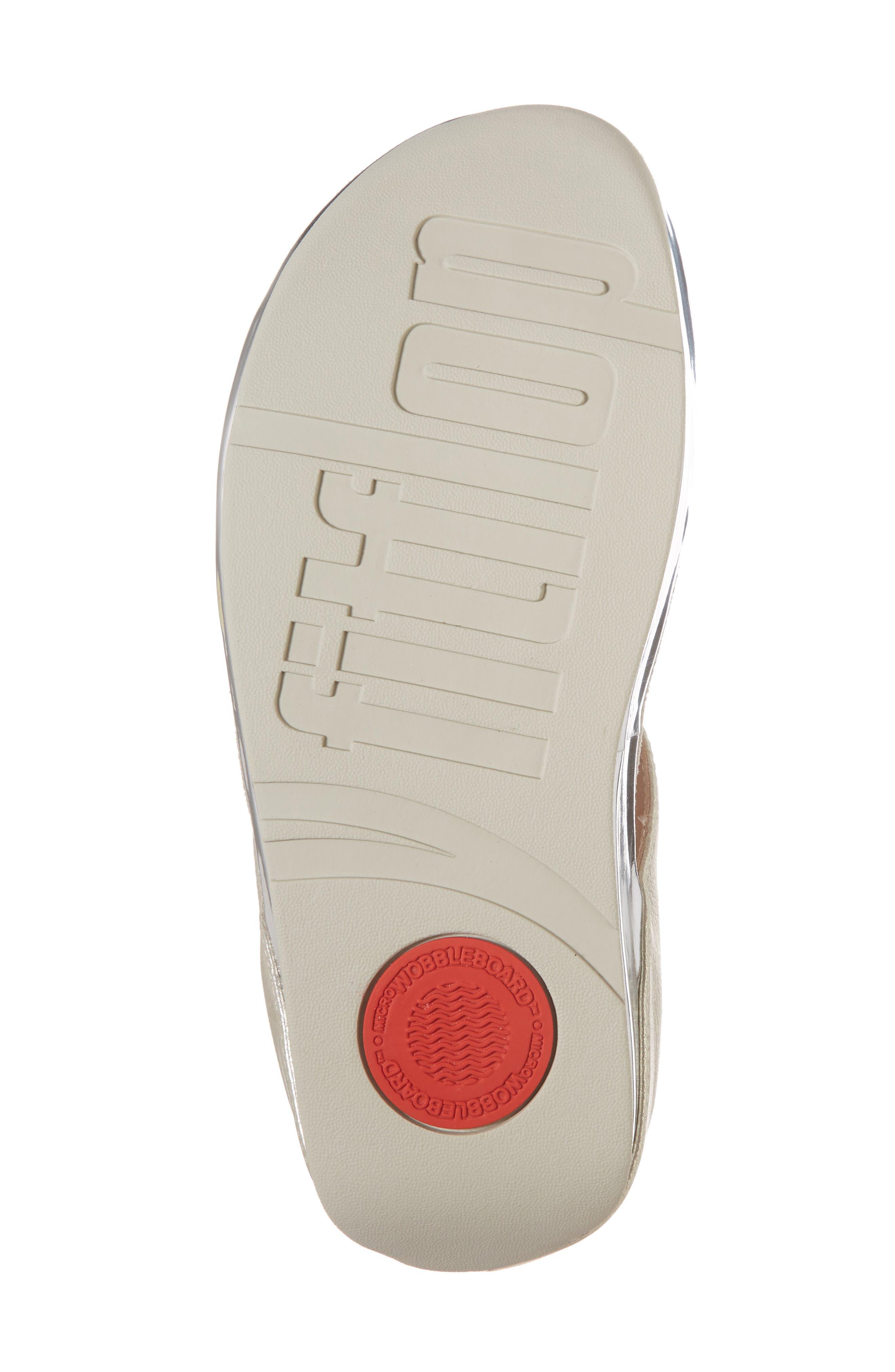 Rumba Flip Flop,                             Alternate thumbnail 6, color,                             Metallic Silver Leather