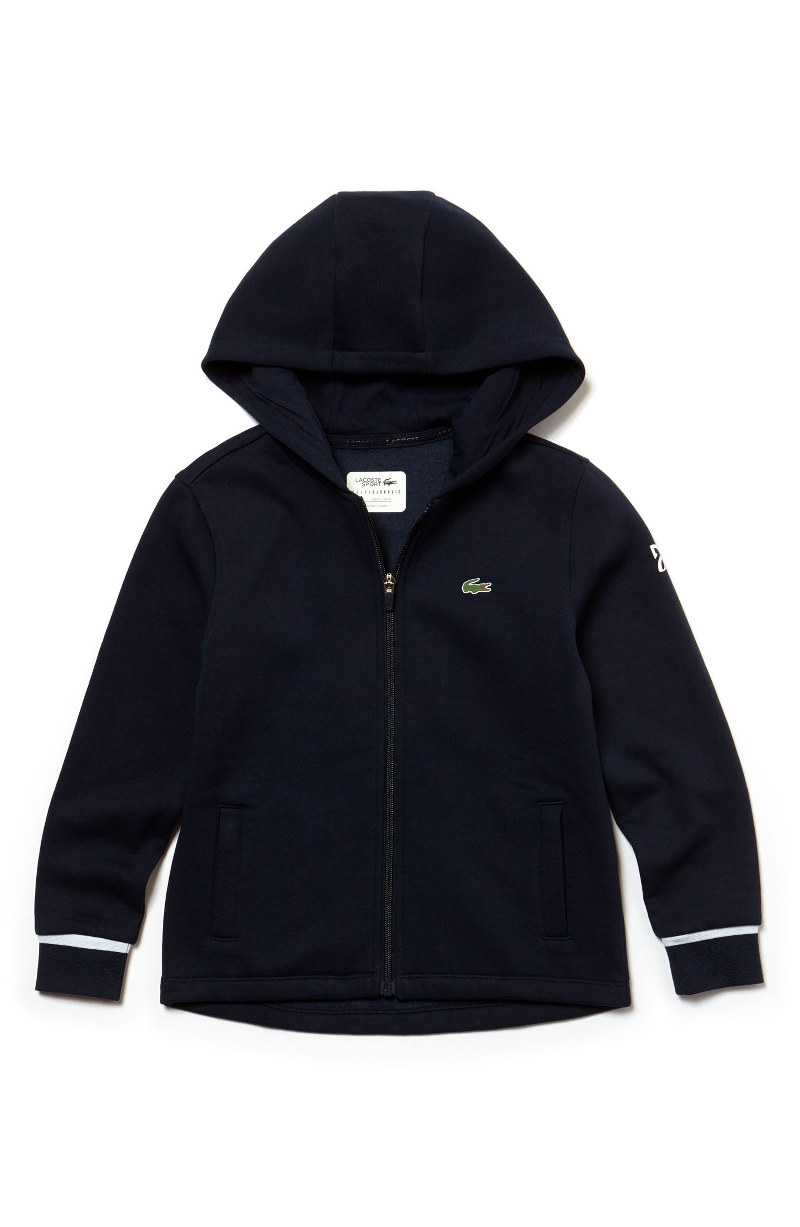 Fan Zip Hoodie,                         Main,                         color, Marino/ Black