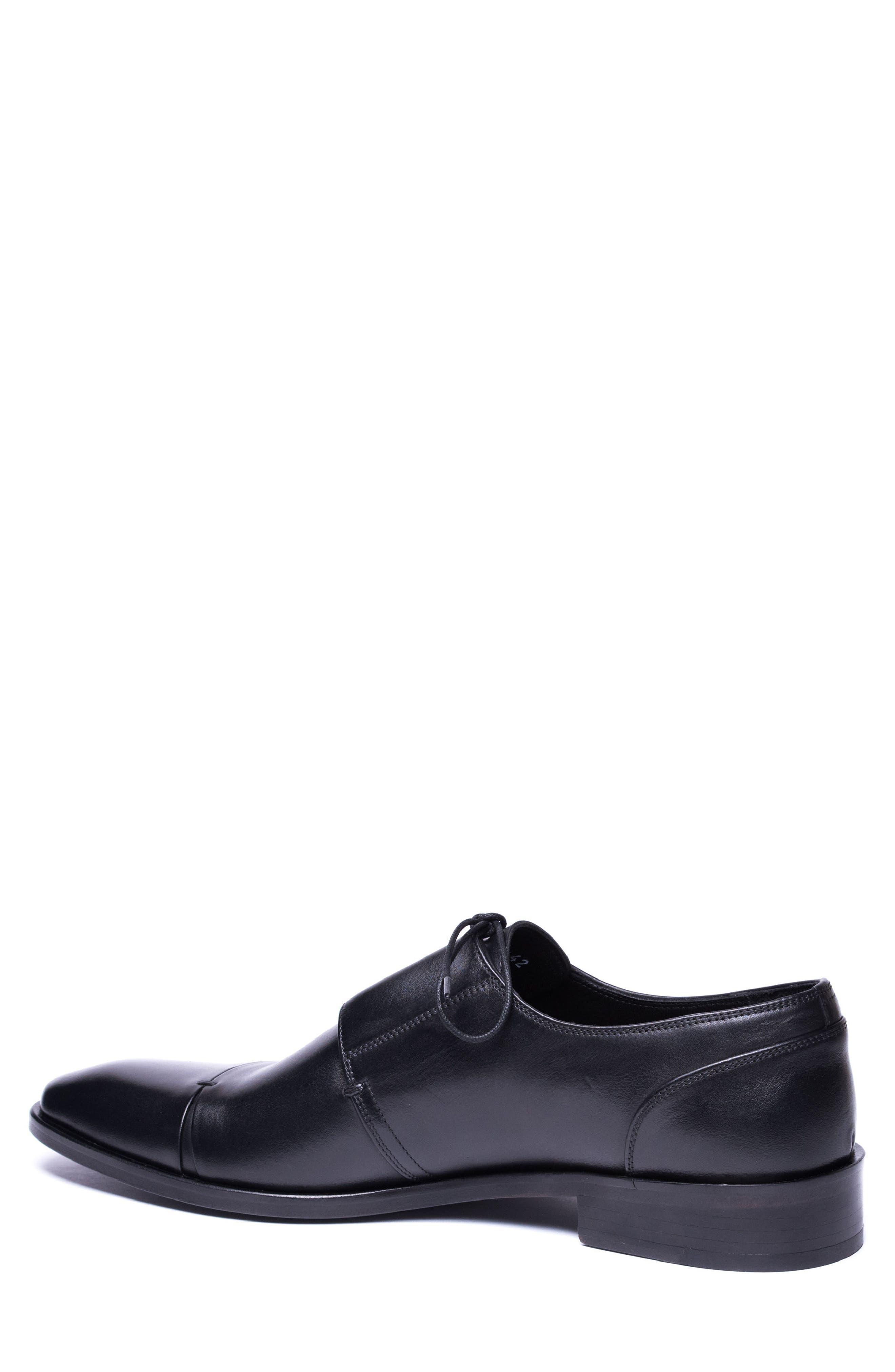 Danny Cap Toe Derby,                             Alternate thumbnail 2, color,                             Black Leather