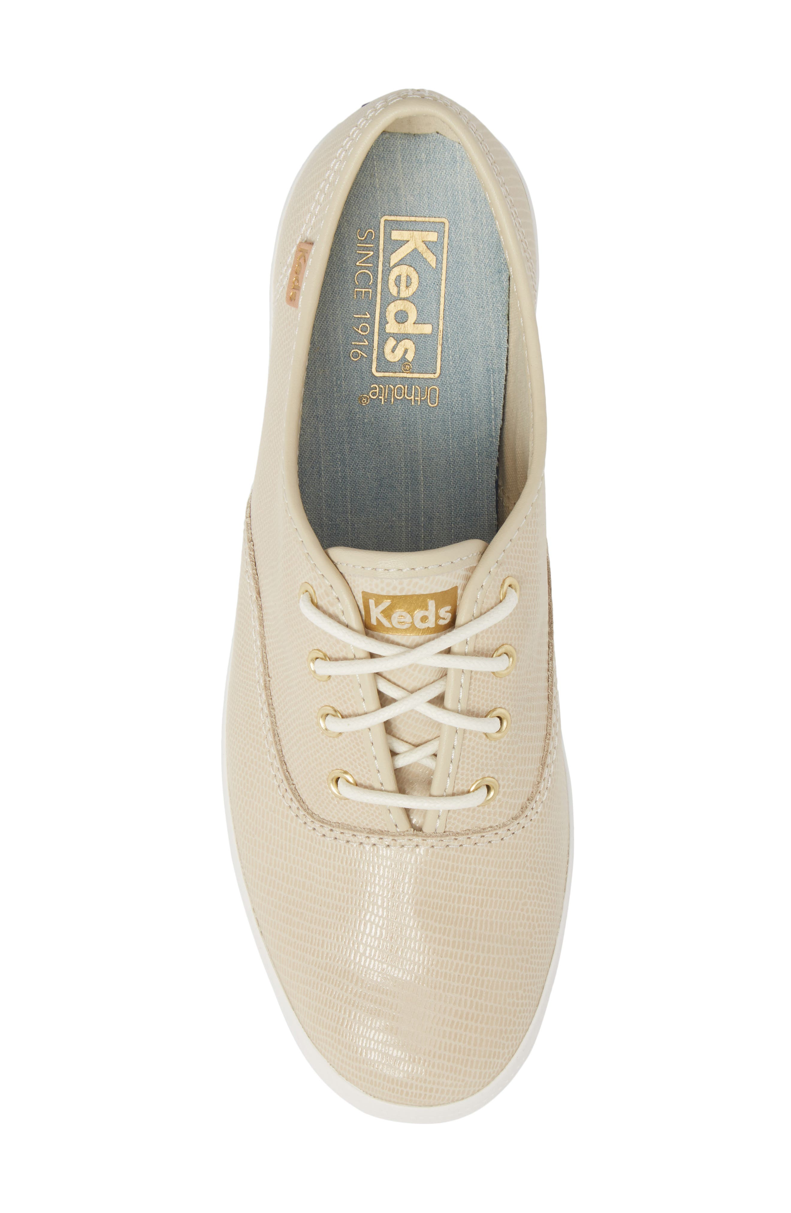 Champion Pretty Leather Sneaker,                             Alternate thumbnail 5, color,                             Ivory