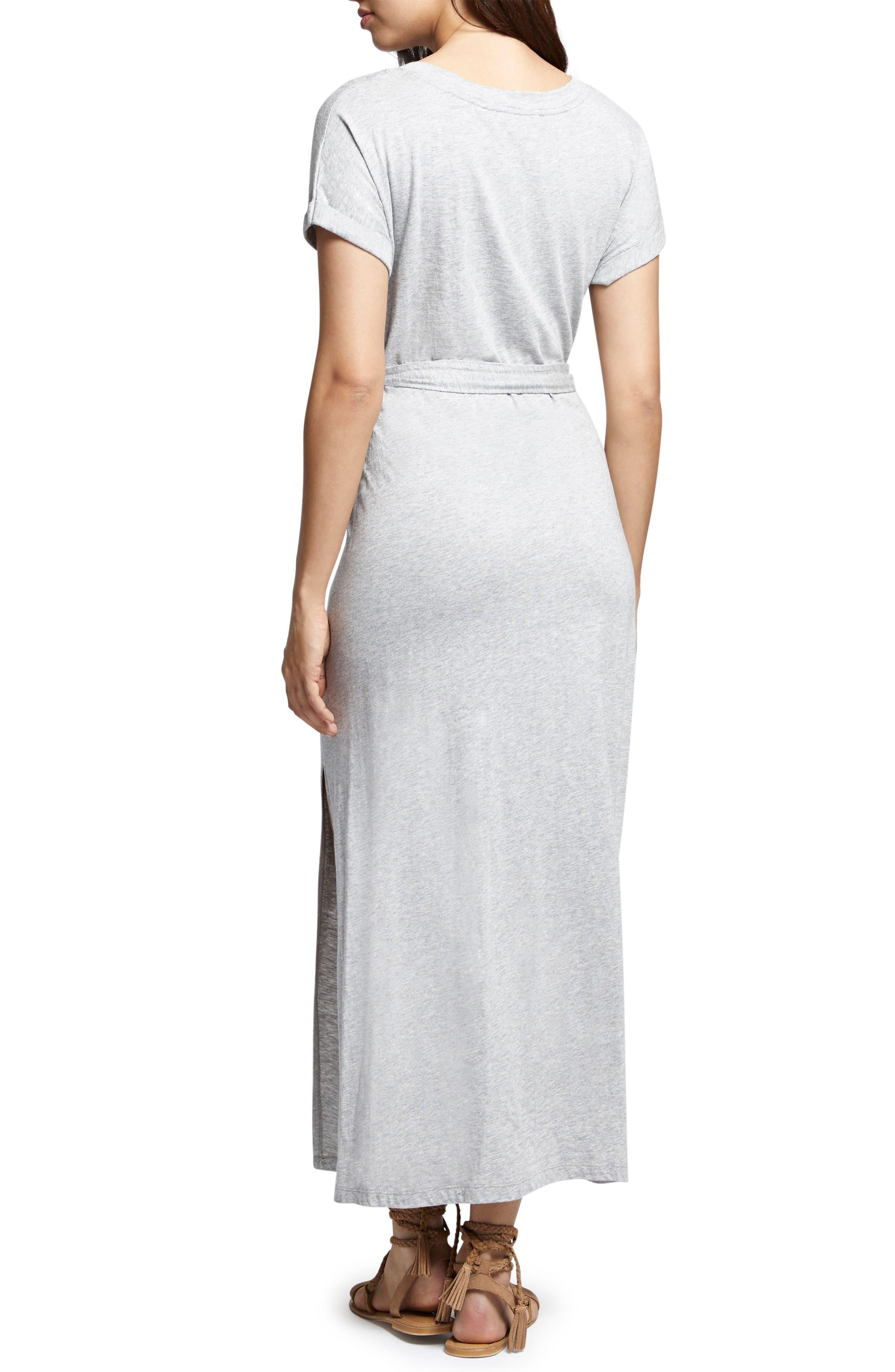 Isle Maxi Dress,                             Alternate thumbnail 2, color,                             Heather Grey