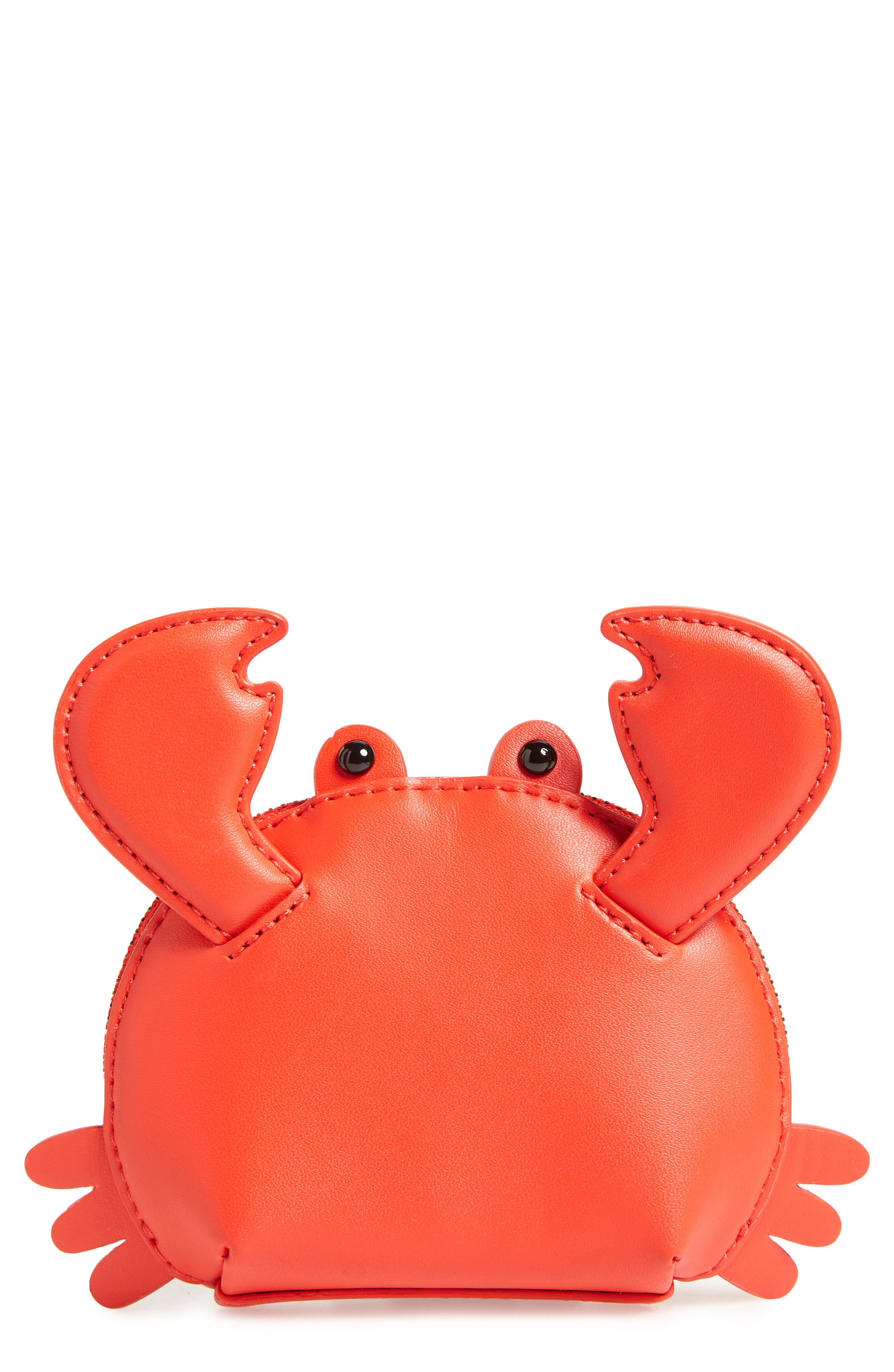 shore thing - crab coin purse,                         Main,                         color, Picnic Red