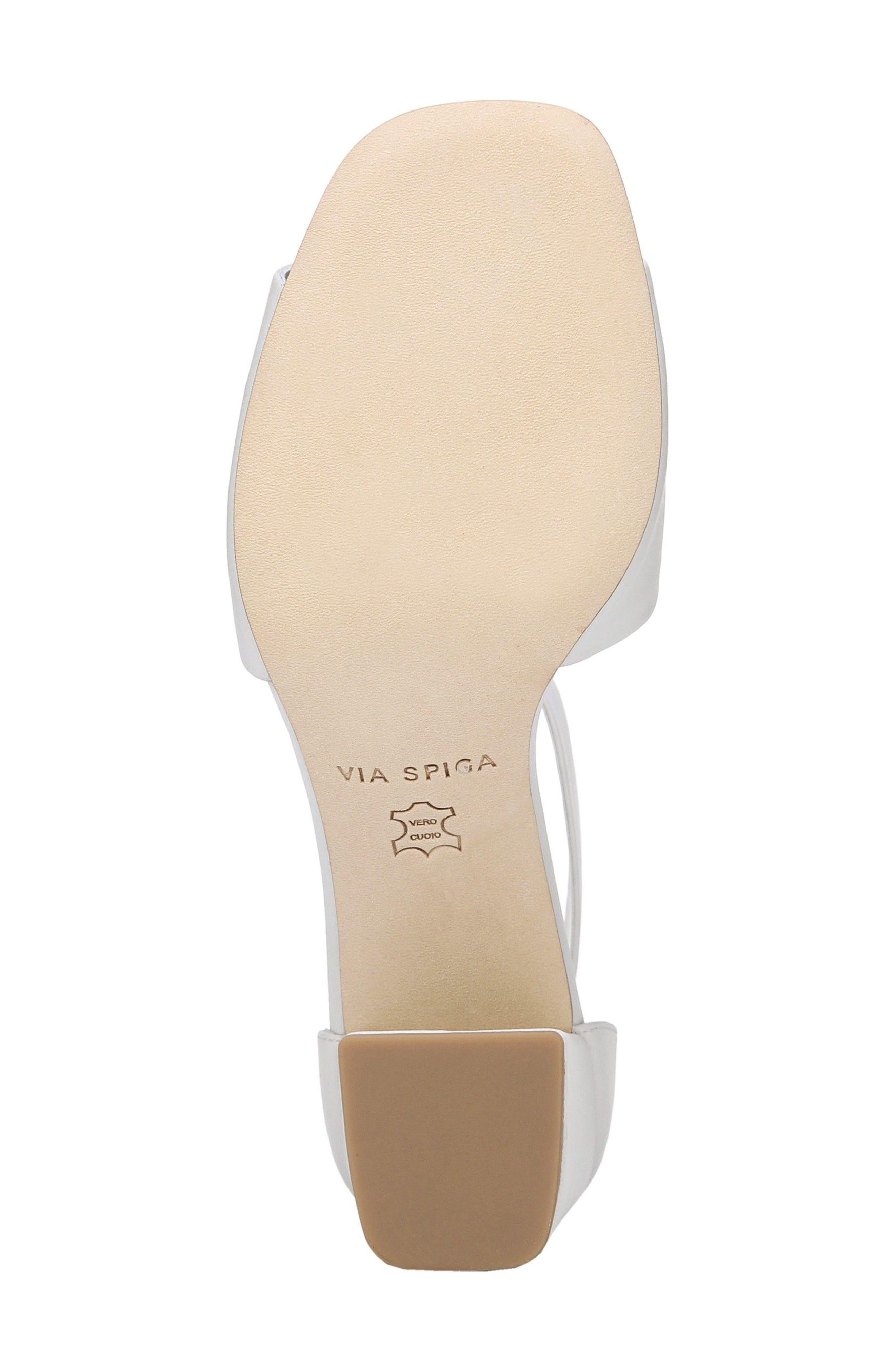 Evonne Ankle Strap Sandal,                             Alternate thumbnail 6, color,                             Porcelain Leather