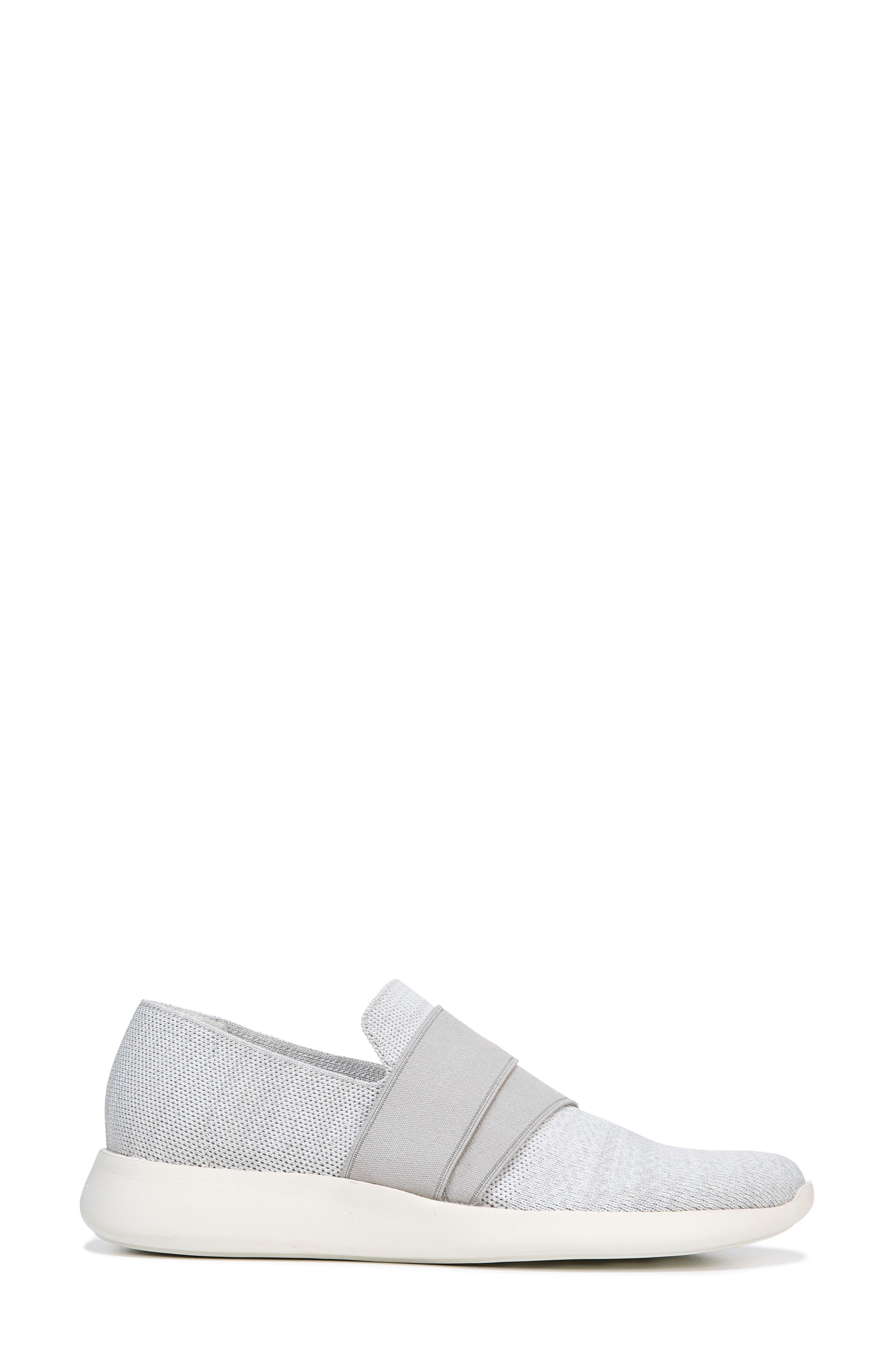 Aston Slip-On Sneaker,                             Alternate thumbnail 3, color,                             White/ Grey Marled Knit