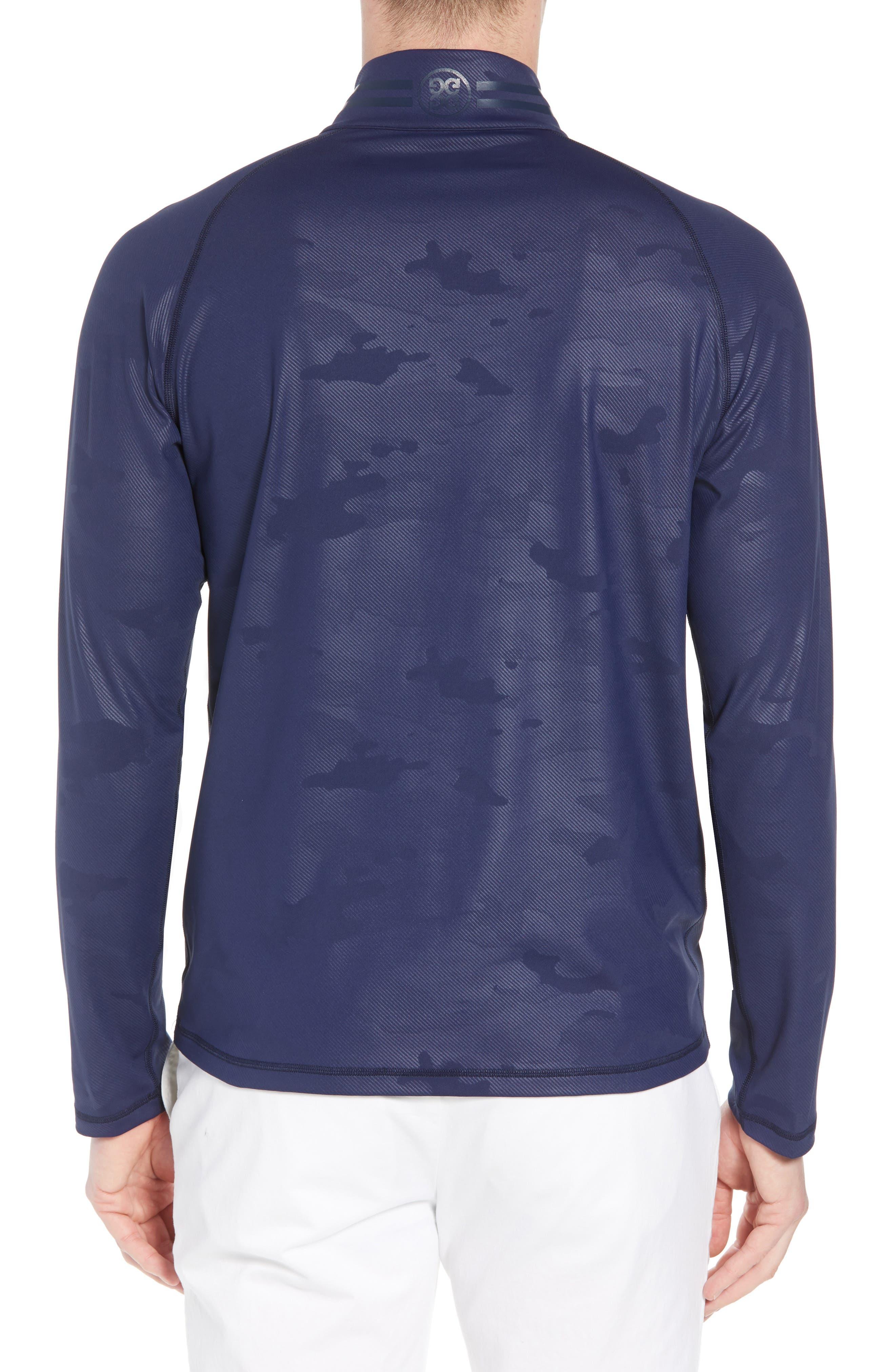 Camo Regular Fit Quarter-Zip Pullover,                             Alternate thumbnail 2, color,                             Twilight