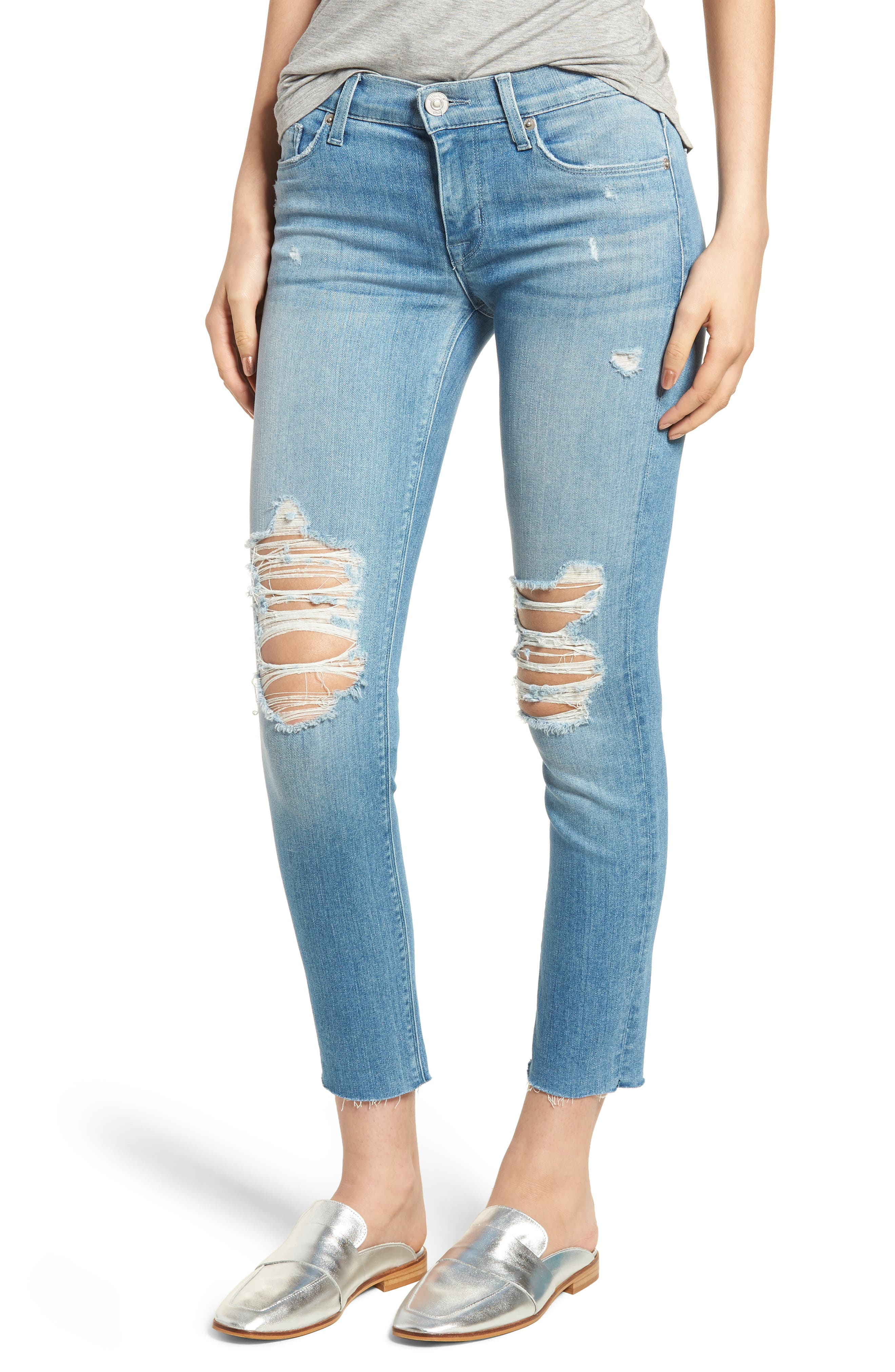 Tally Crop Skinny Jeans,                             Main thumbnail 1, color,                             Sugarcoat